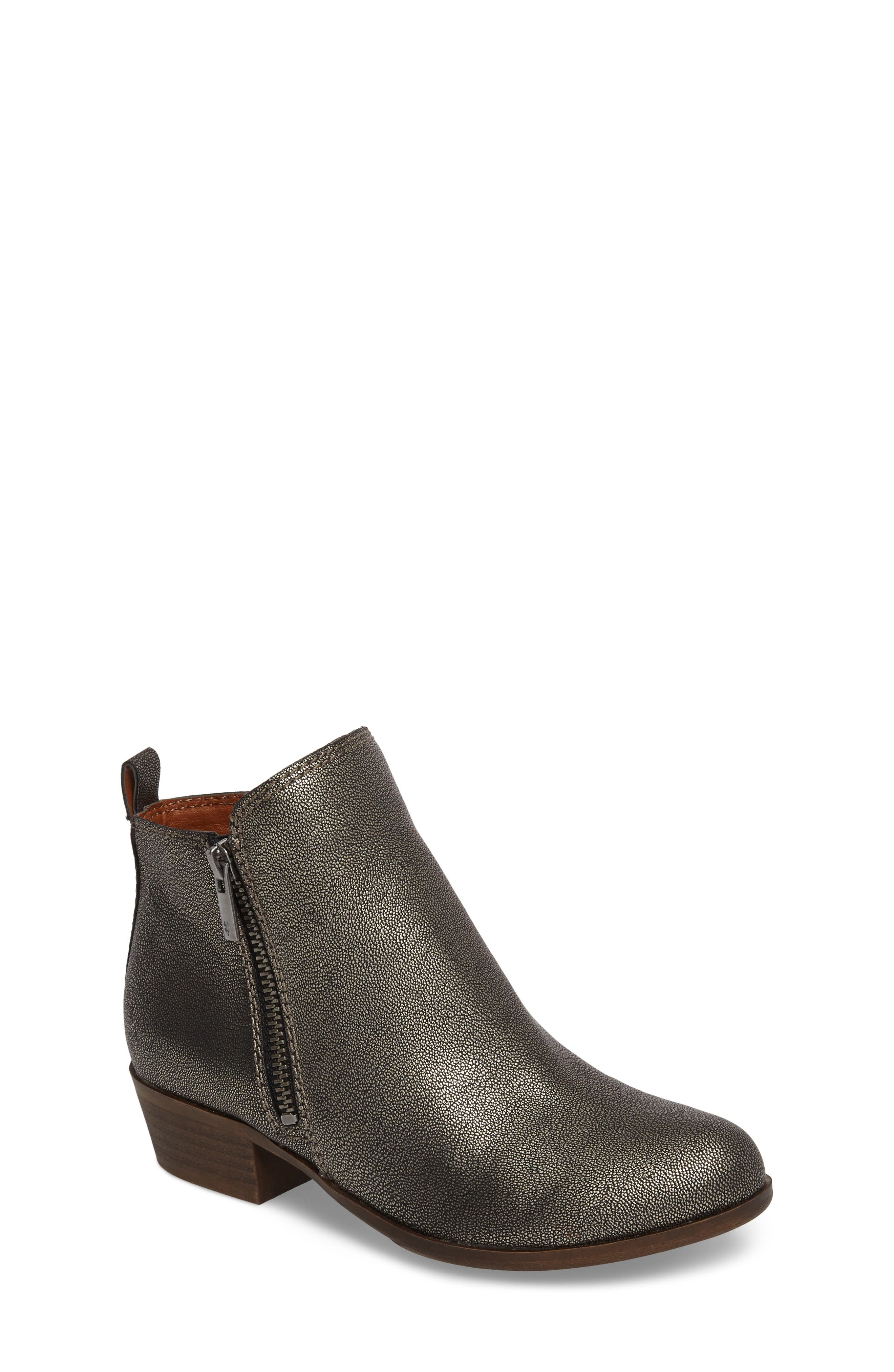 Basel Double-Zip Bootie,                         Main,                         color, Pewter