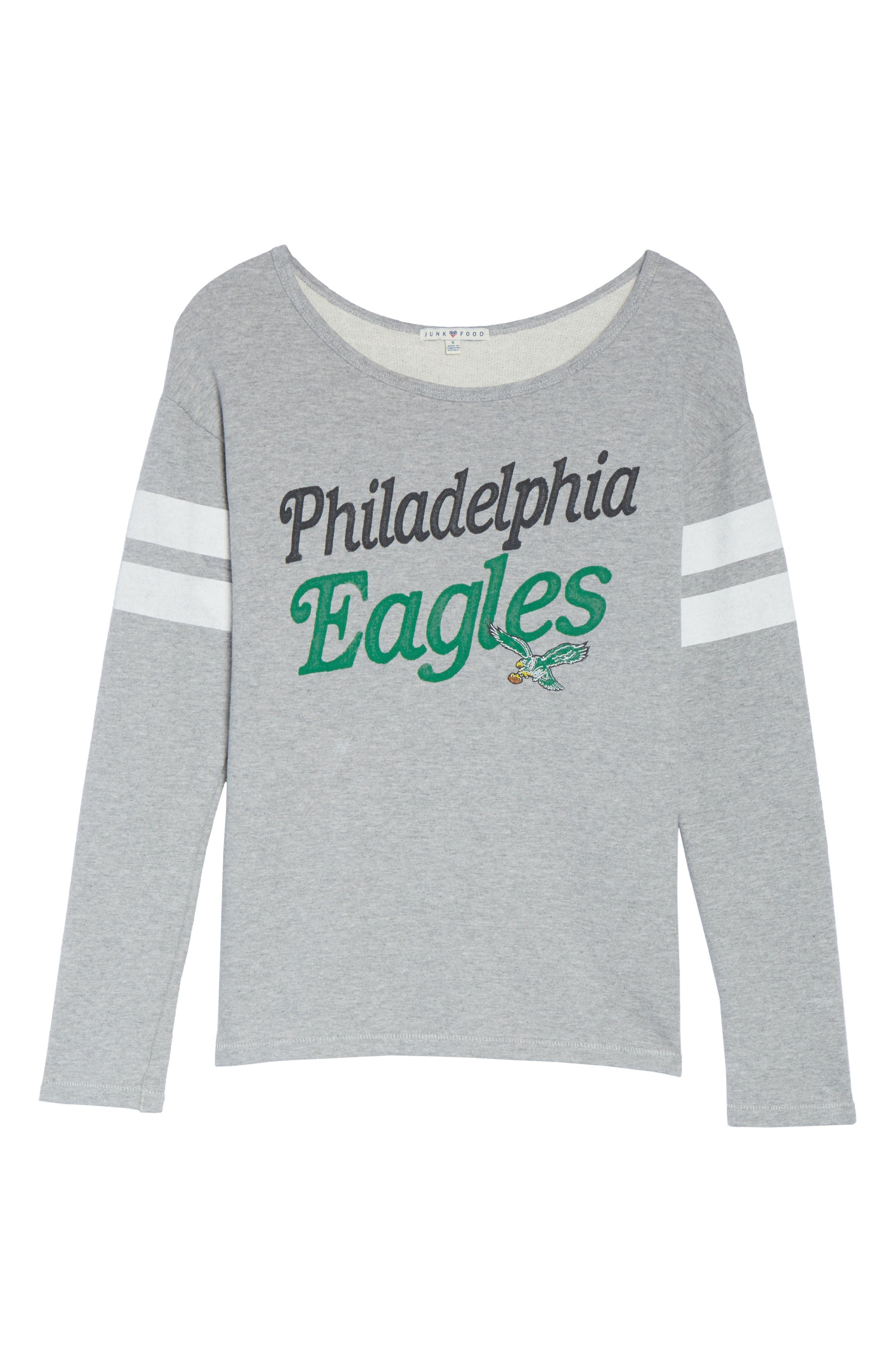 Alternate Image 4  - Junk Food NFL Philadelphia Eagles Champion Sweatshirt