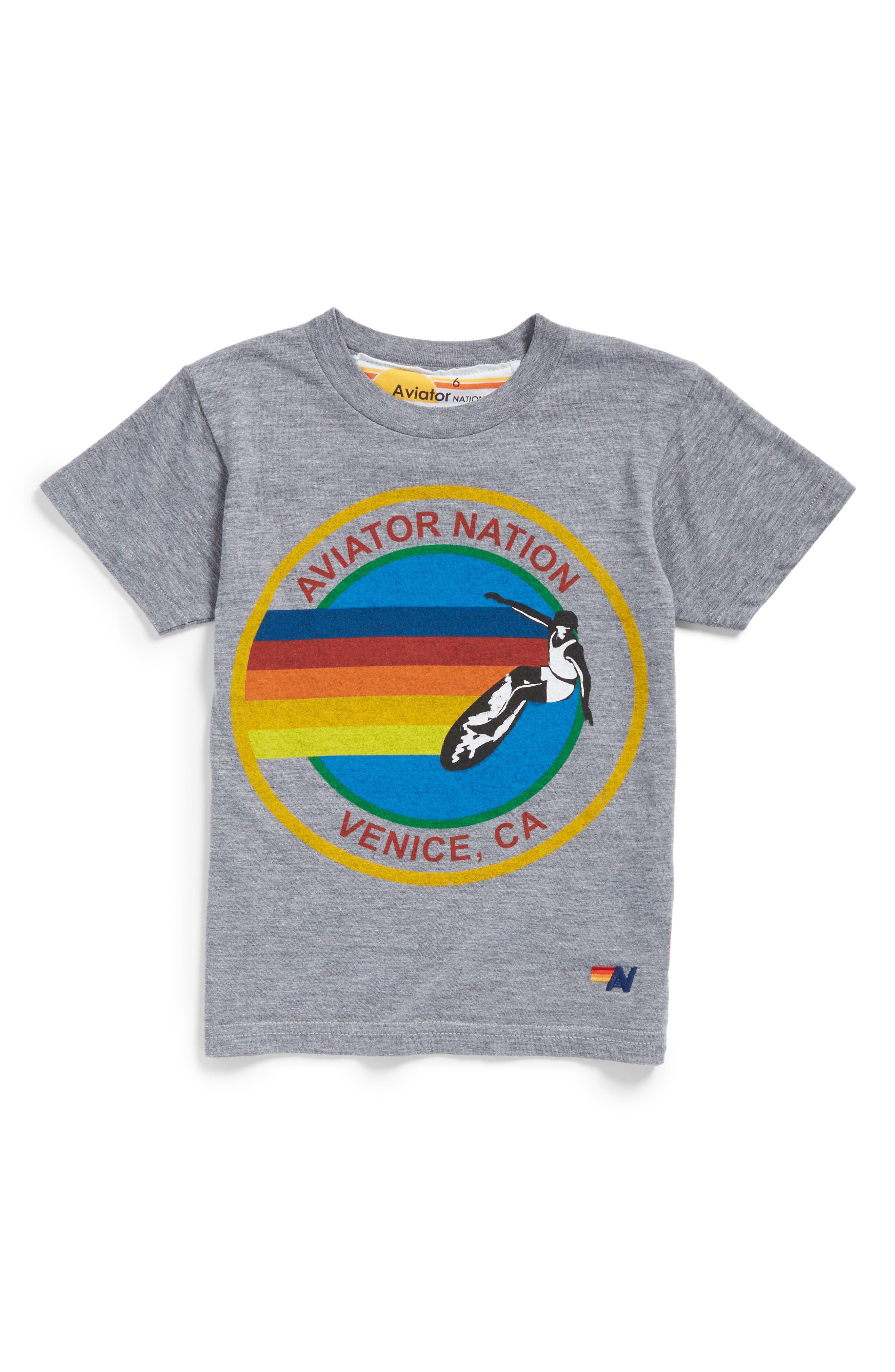 Aviator Nation Screenprint Tee (Toddler Girls, Little Girls & Big Girls)