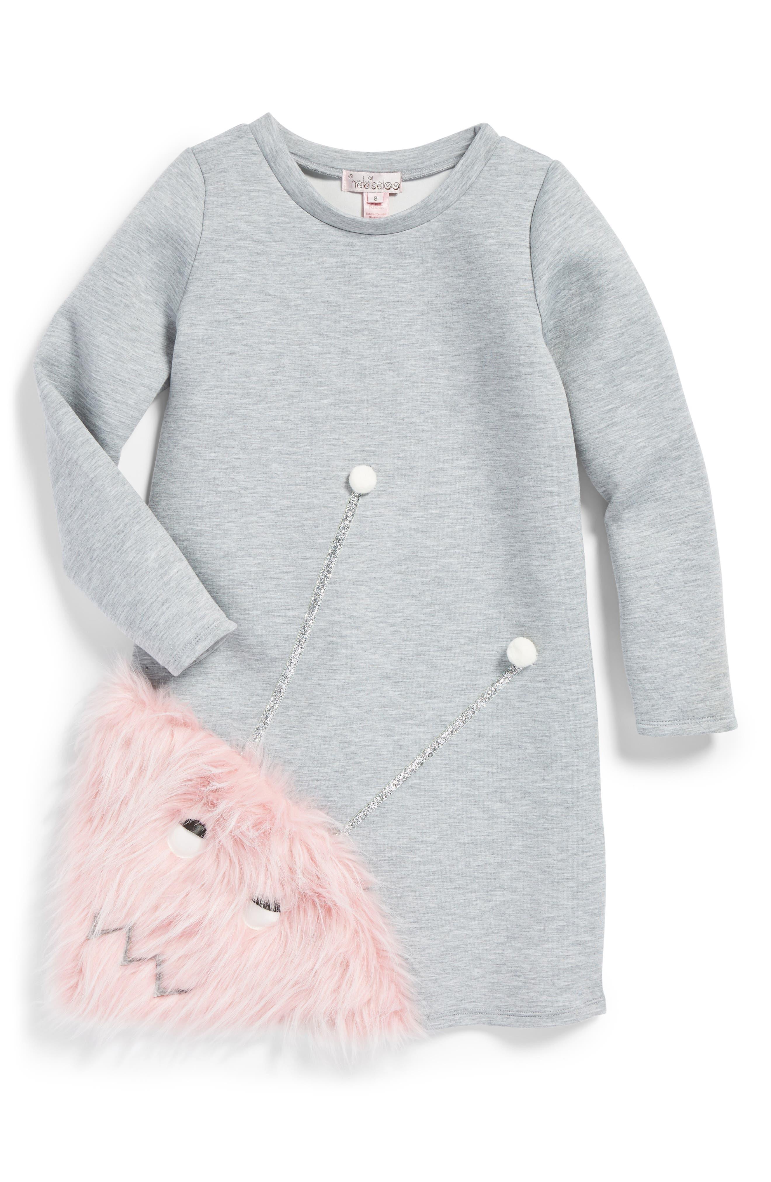 Alternate Image 1 Selected - Halabaloo Monster Dress (Toddler Girls, Little Girls & Big Girls)