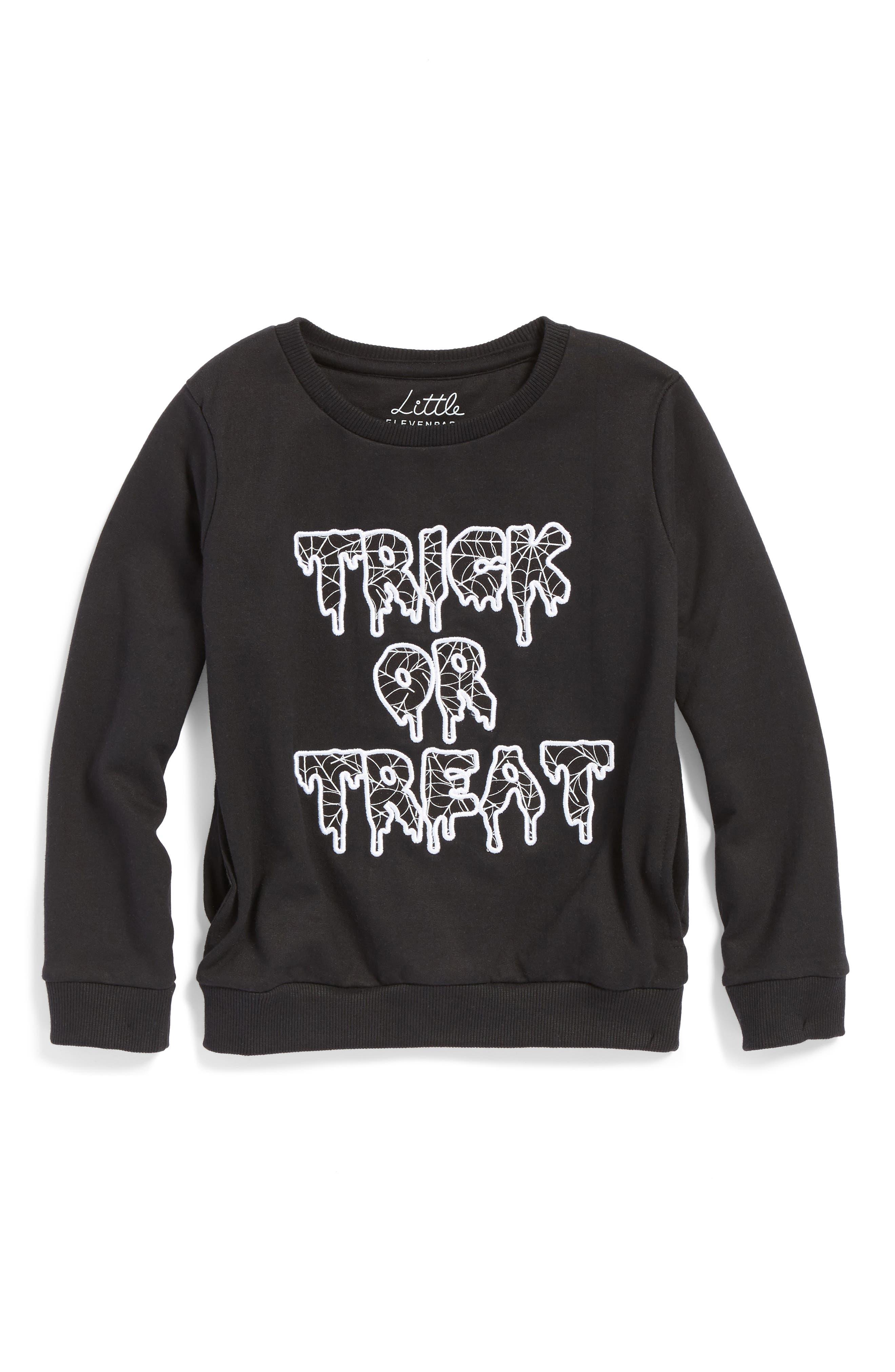 Little ELEVENPARIS Trick or Treat Sweatshirt (Toddler Boys, Little Boys & Big Boys)