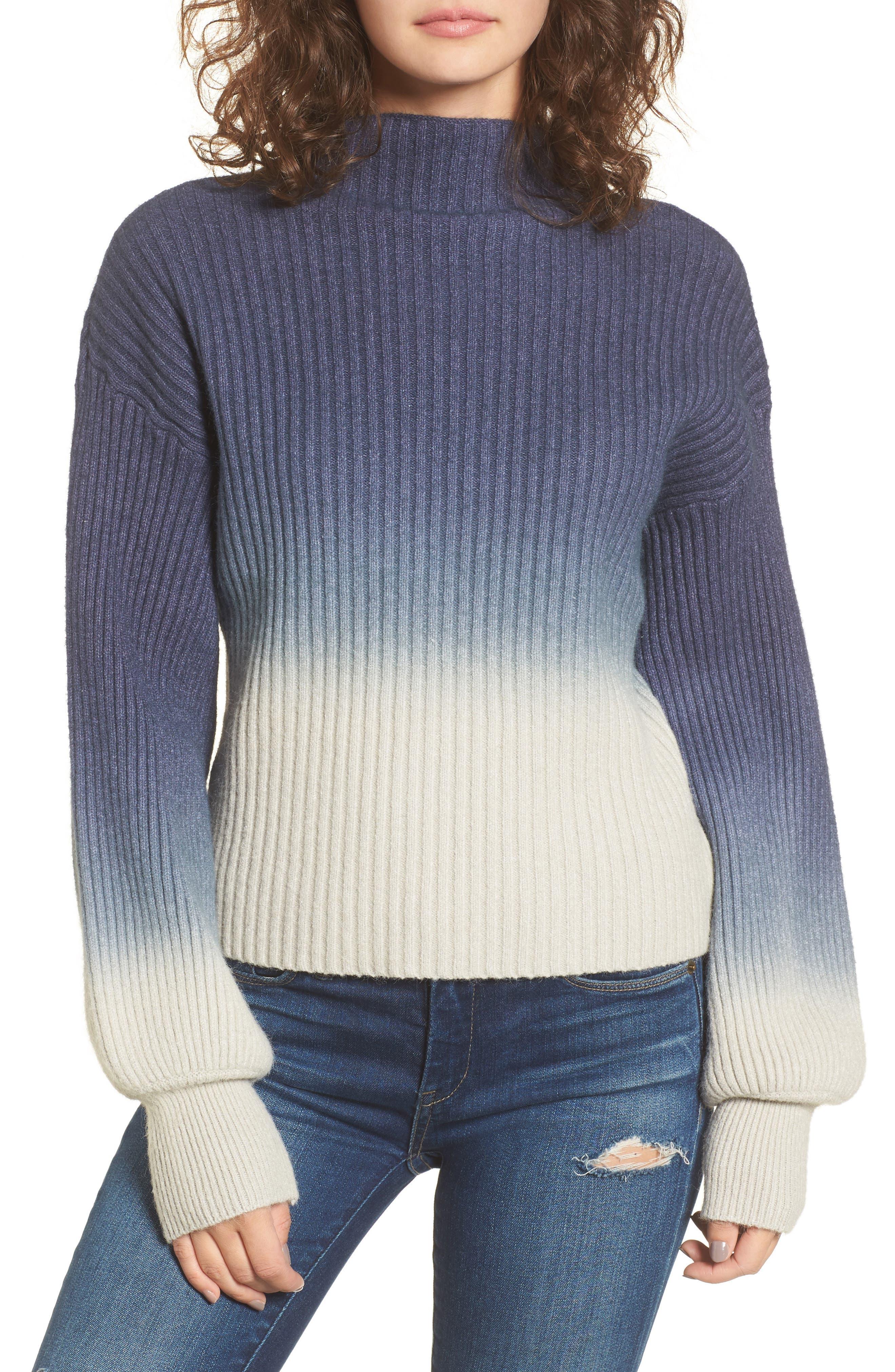 Ombré Sweater,                             Main thumbnail 1, color,                             Blue/ White