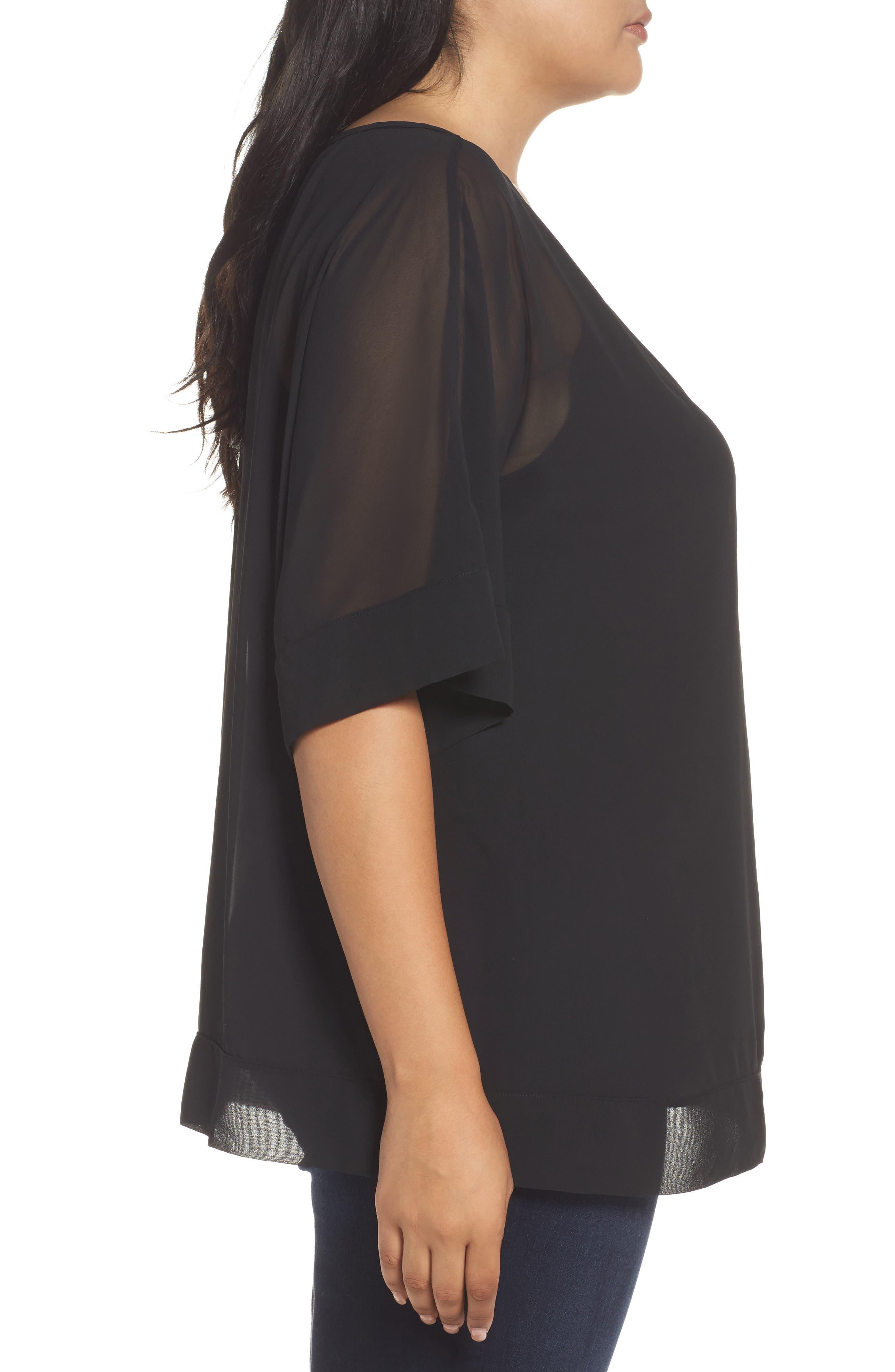 Alternate Image 3  - Sejour Kimono Layered Top (Plus Size)