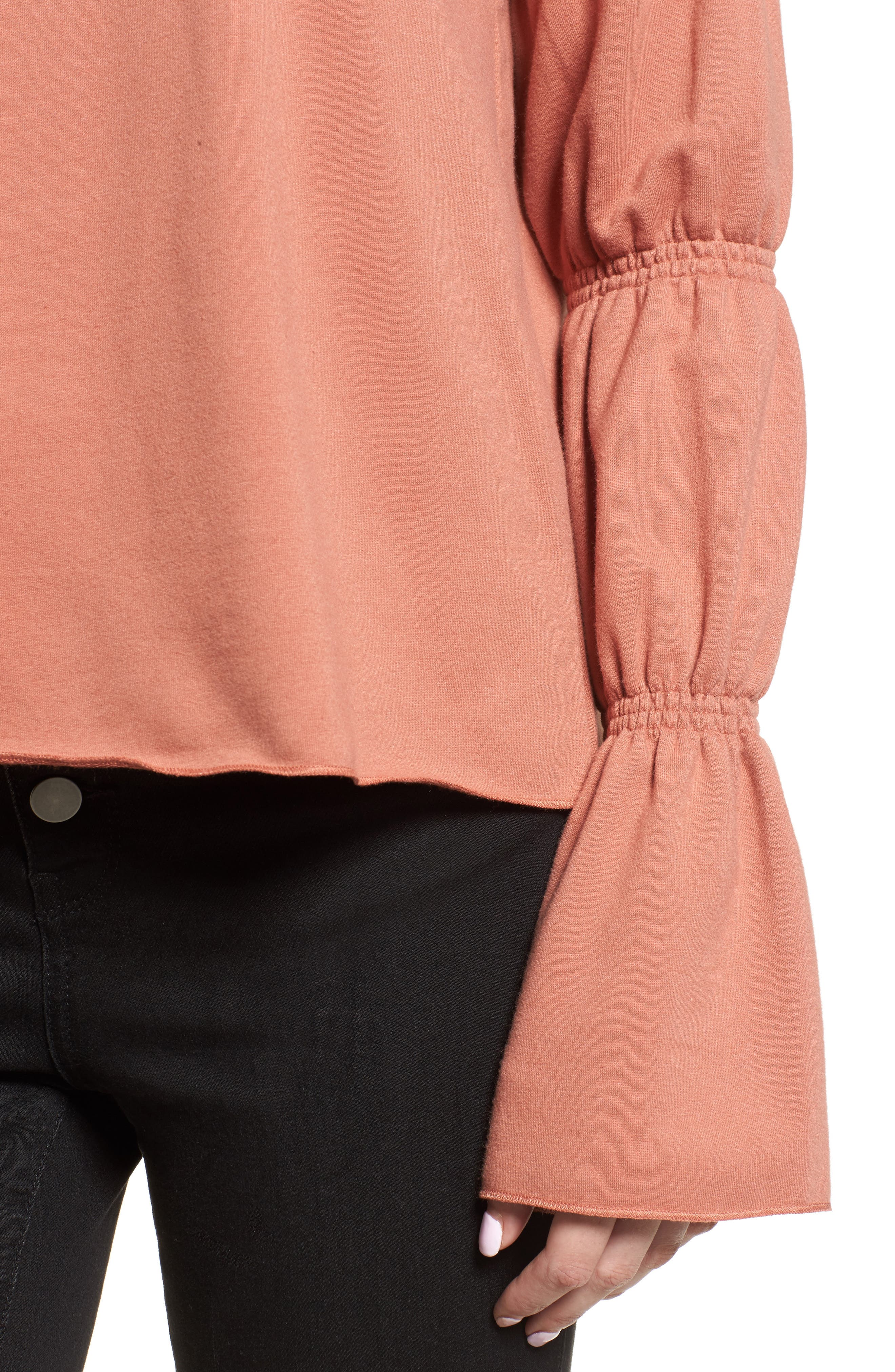 Alternate Image 4  - Hinge Flare Cuff Sweatshirt