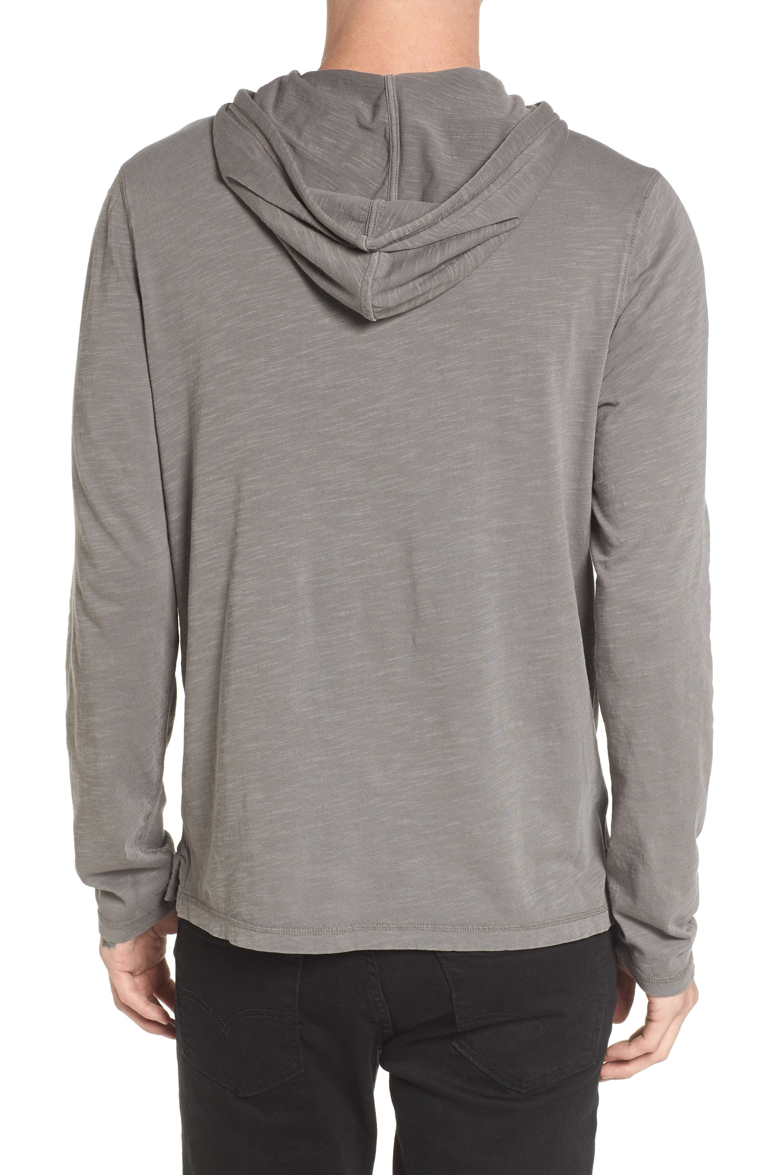 Henley Hoodie,                             Alternate thumbnail 3, color,                             Grey Charcoal