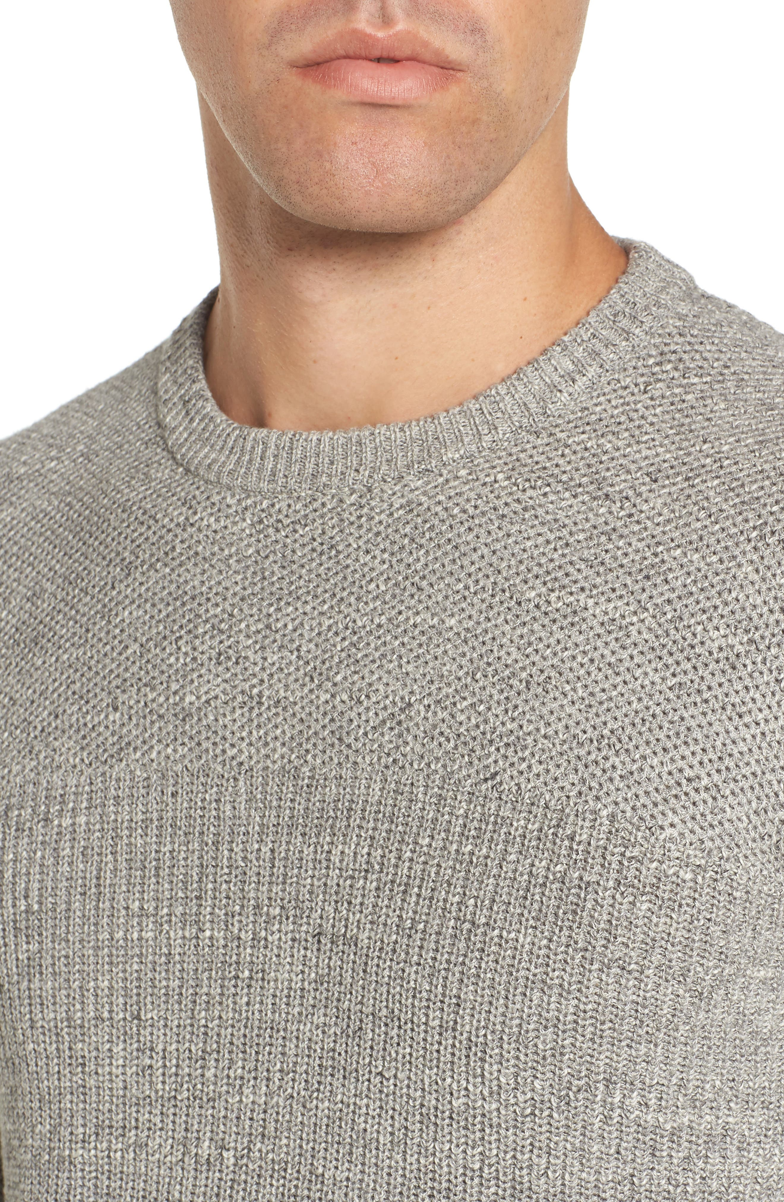 Ardsley Textured Sweater,                             Alternate thumbnail 4, color,                             Grey Heather
