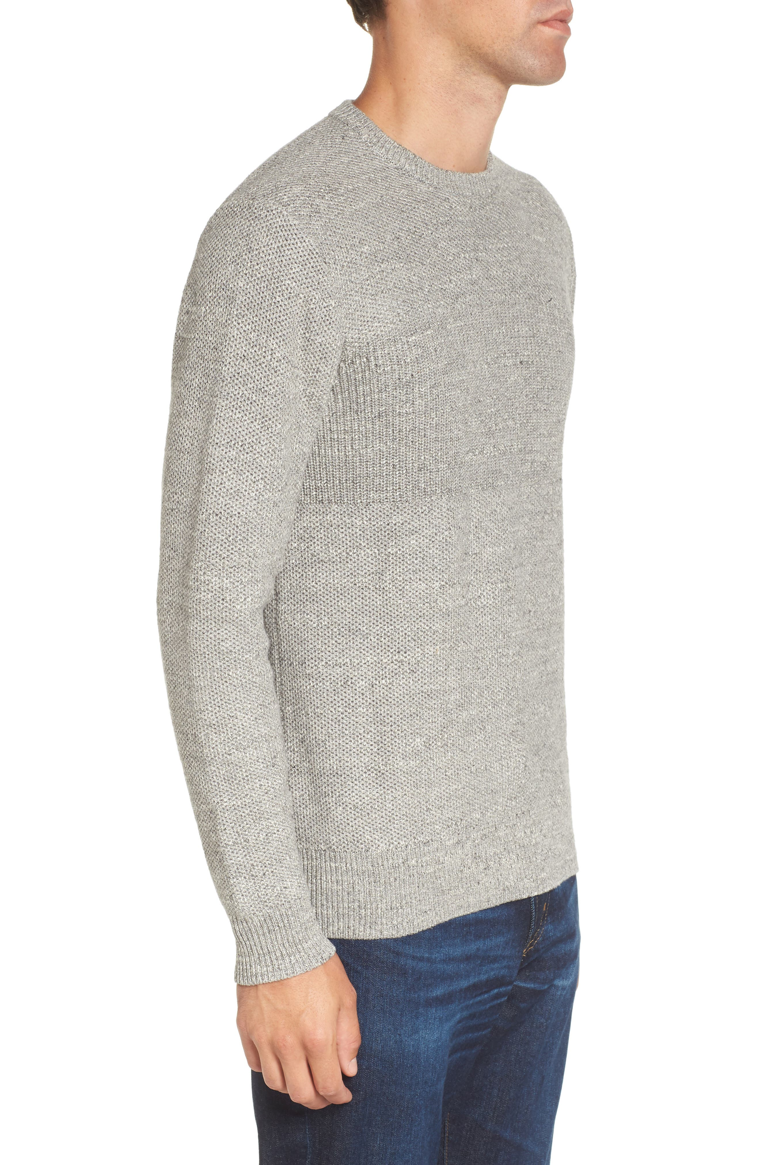 Ardsley Textured Sweater,                             Alternate thumbnail 3, color,                             Grey Heather