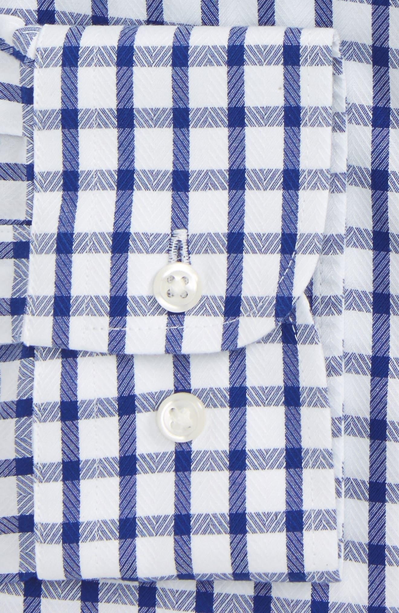 Smartcare<sup>™</sup> Trim Fit Check Dress Shirt,                             Alternate thumbnail 5, color,                             Blue Mazarine