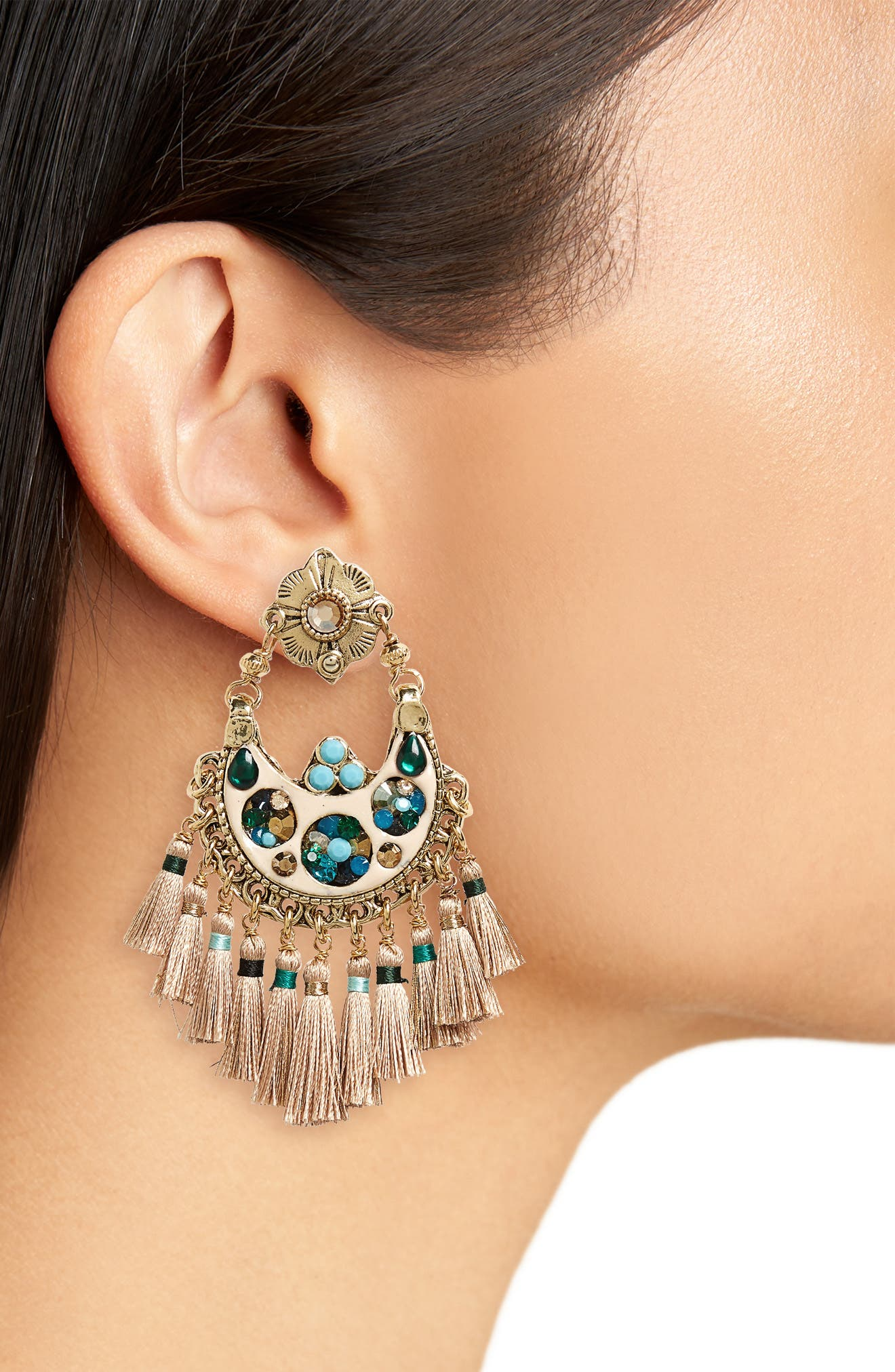 Alternate Image 2  - Gas Bijoux Small Eventail Statement Earrings
