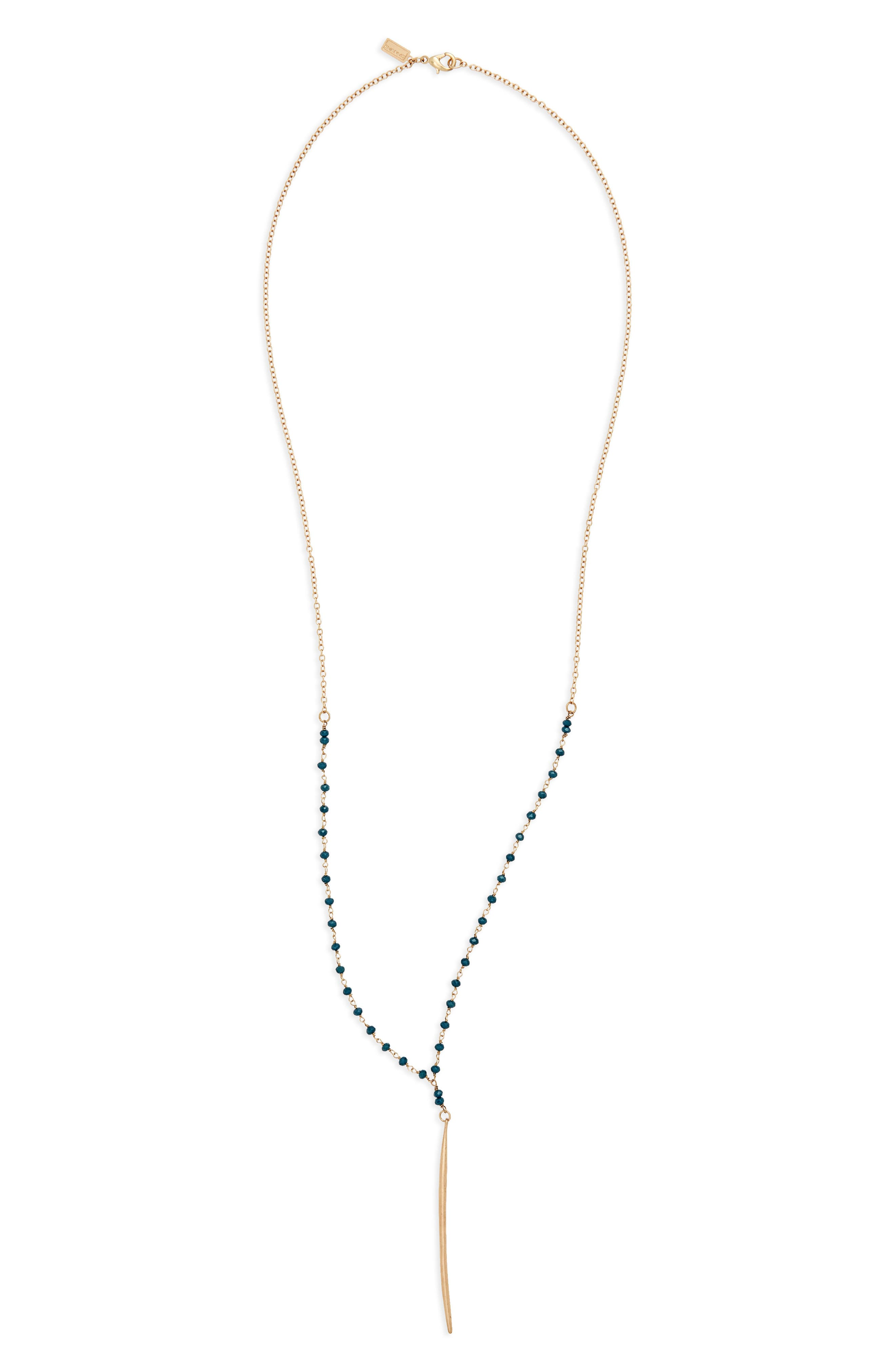 Canvas Bead & Pendant Necklace