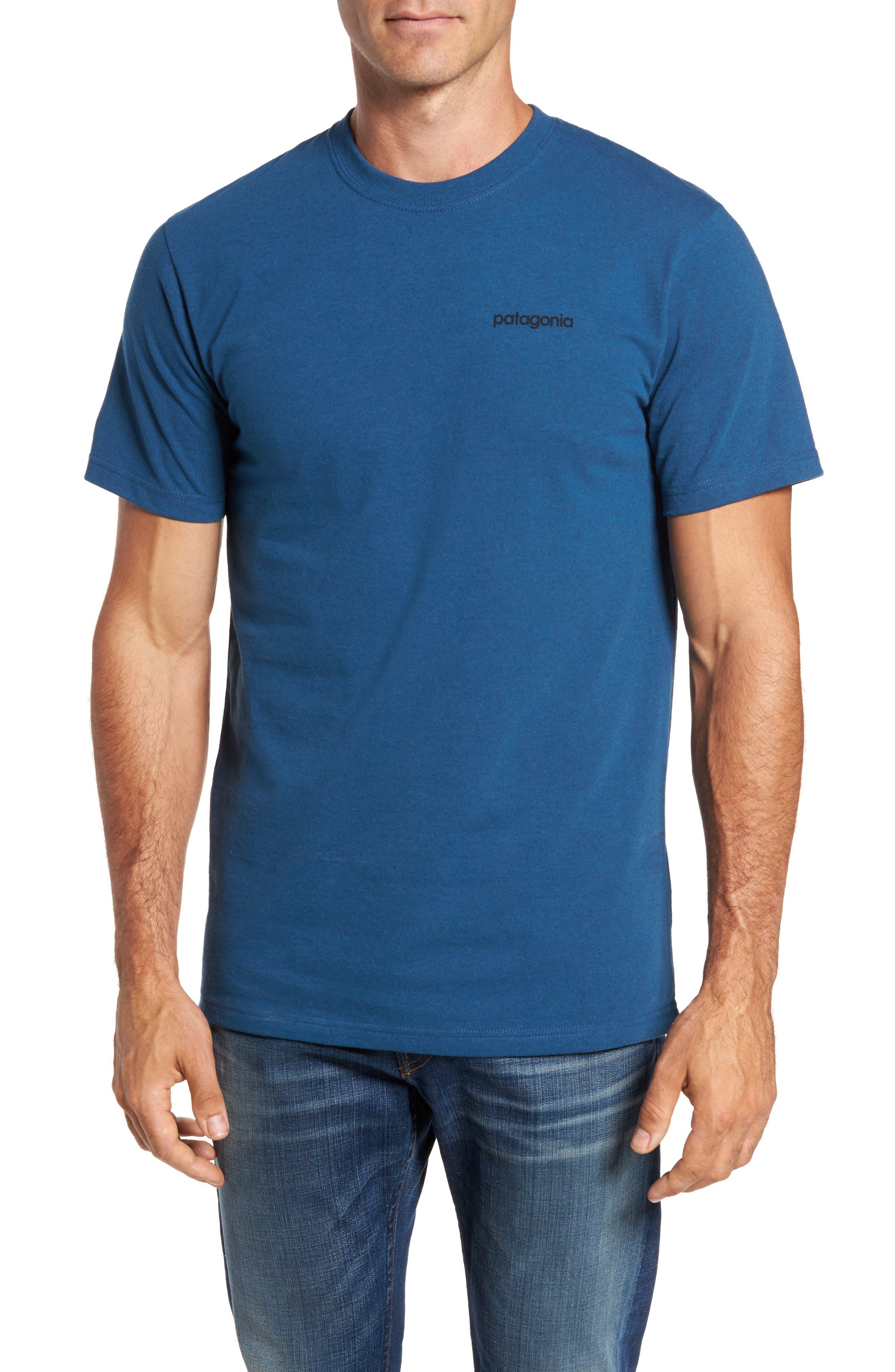 Line Regular Fit Logo T-Shirt,                         Main,                         color, Glass Blue
