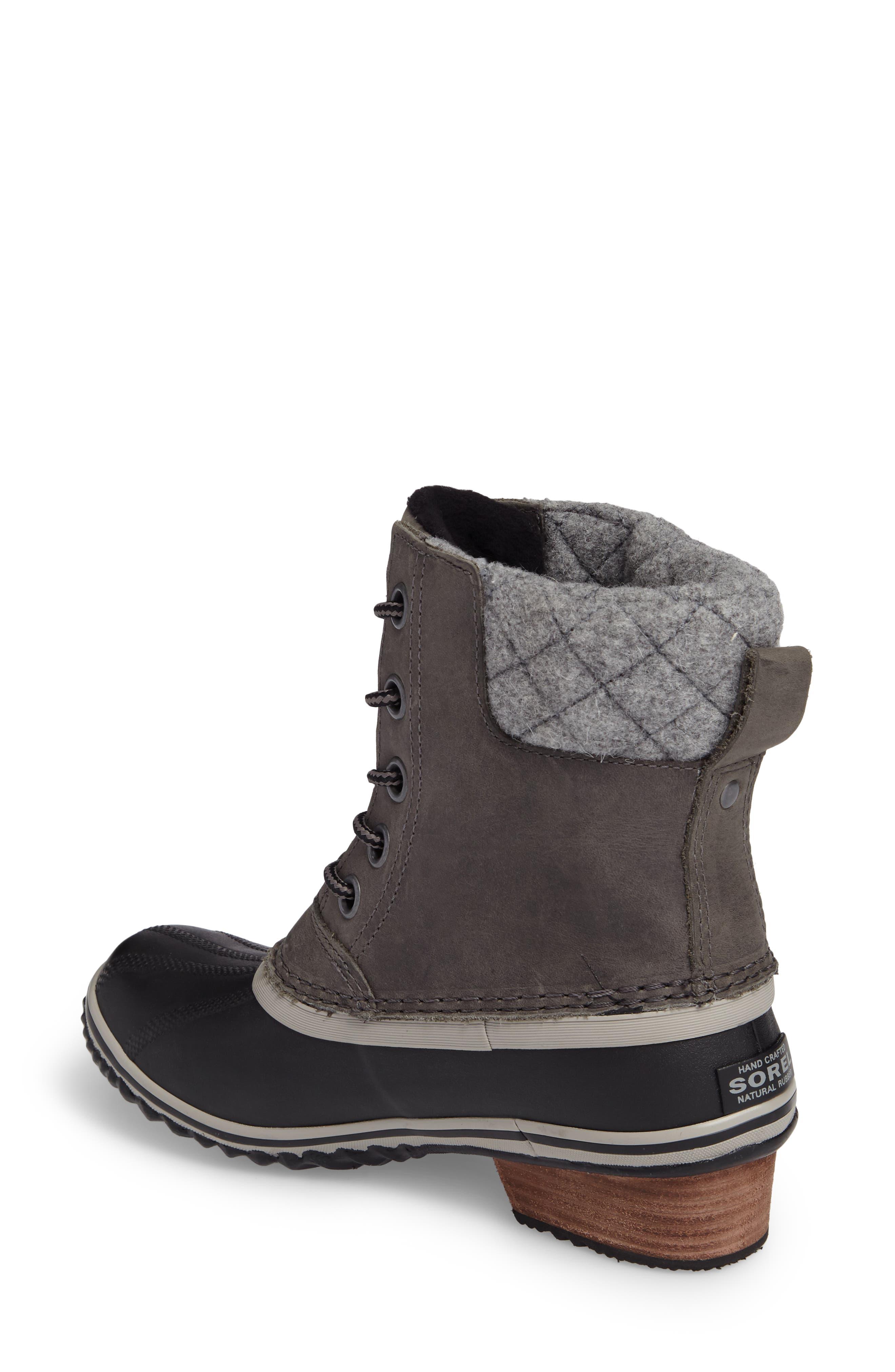 Slimpack II Waterproof Boot,                             Alternate thumbnail 2, color,                             Quarry/ Black