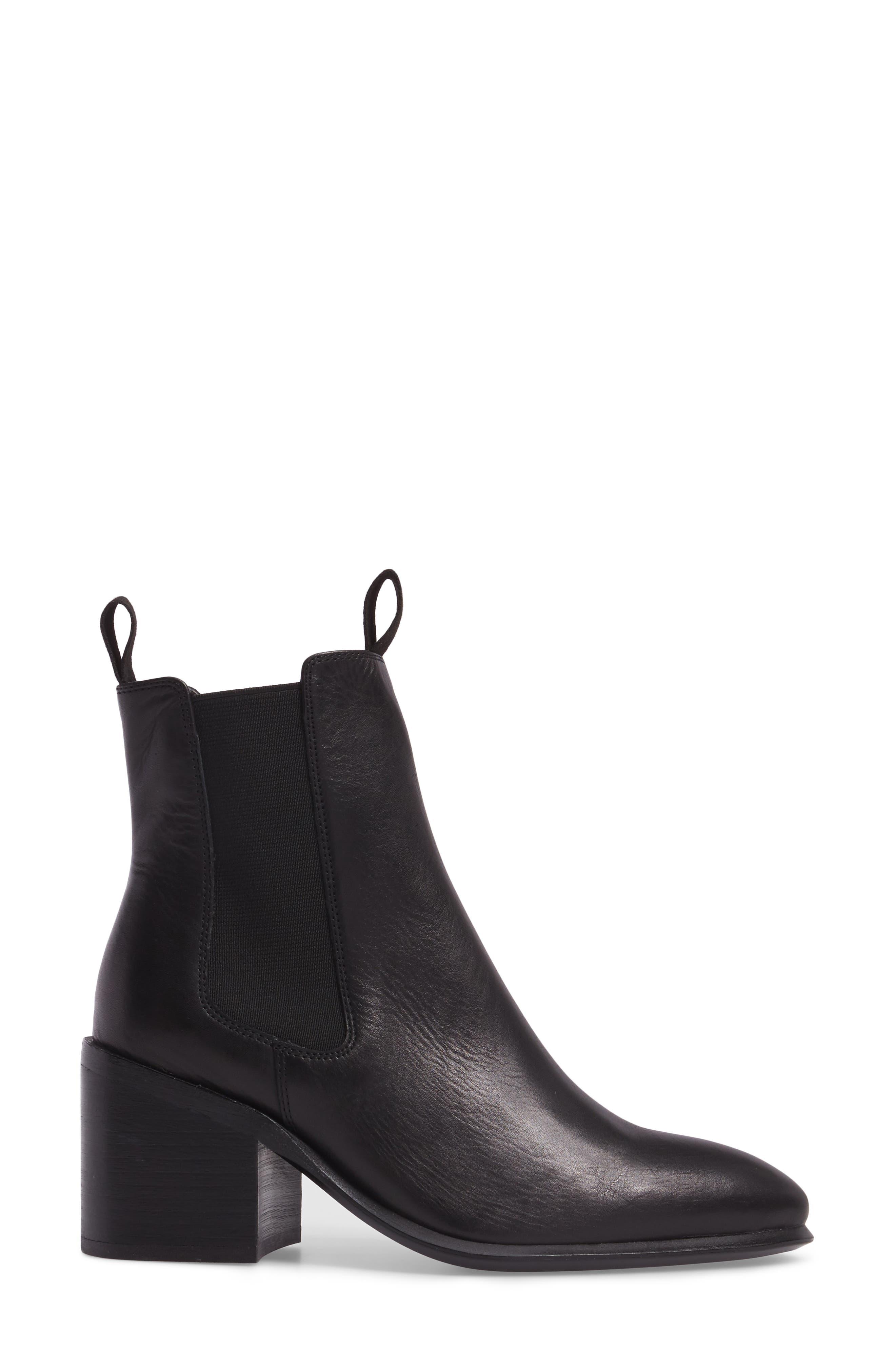 Hampton Bootie,                             Alternate thumbnail 3, color,                             Black Leather