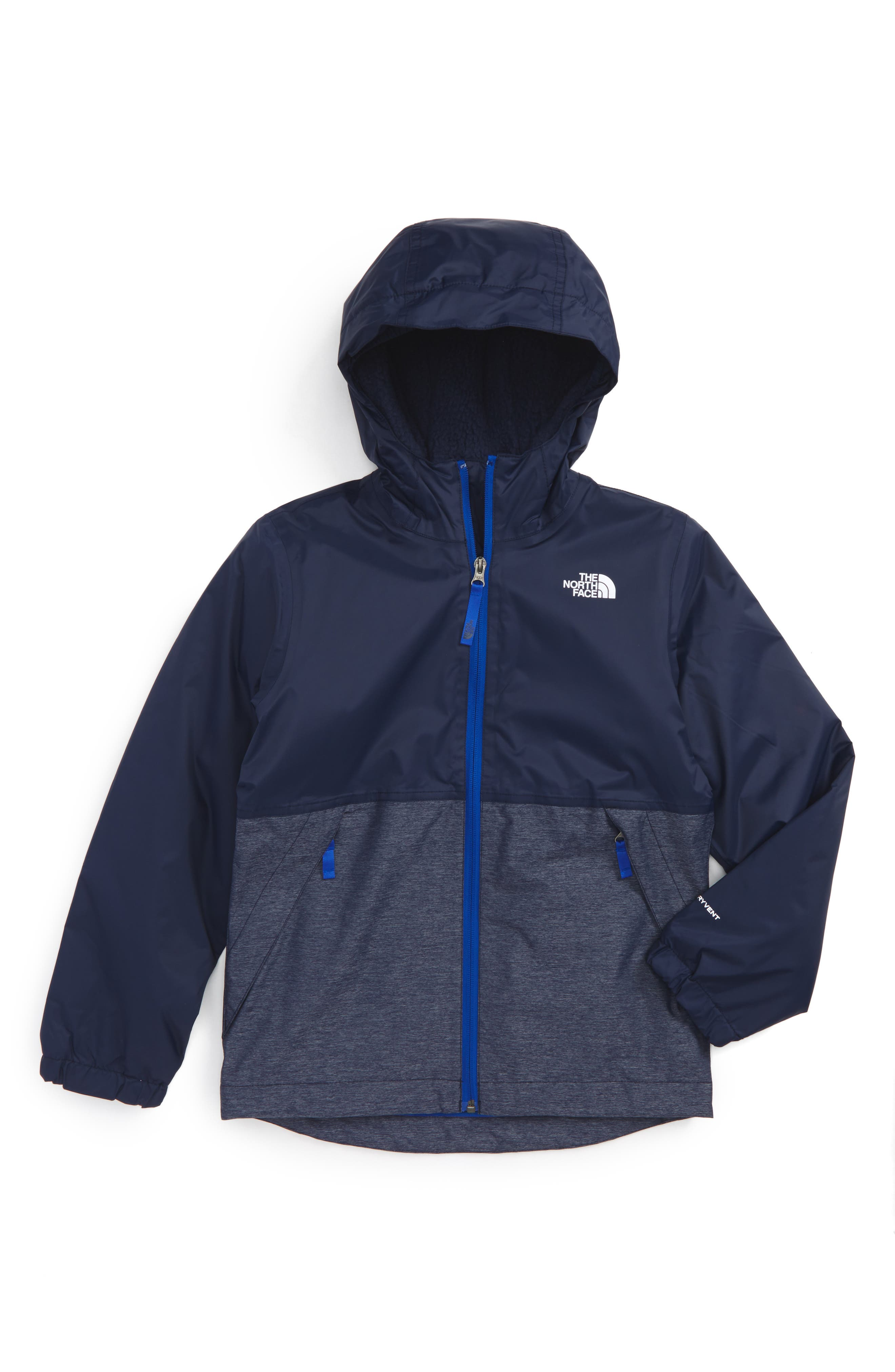 The North Face Warm Storm Hooded Waterproof Jacket (Big Boys)