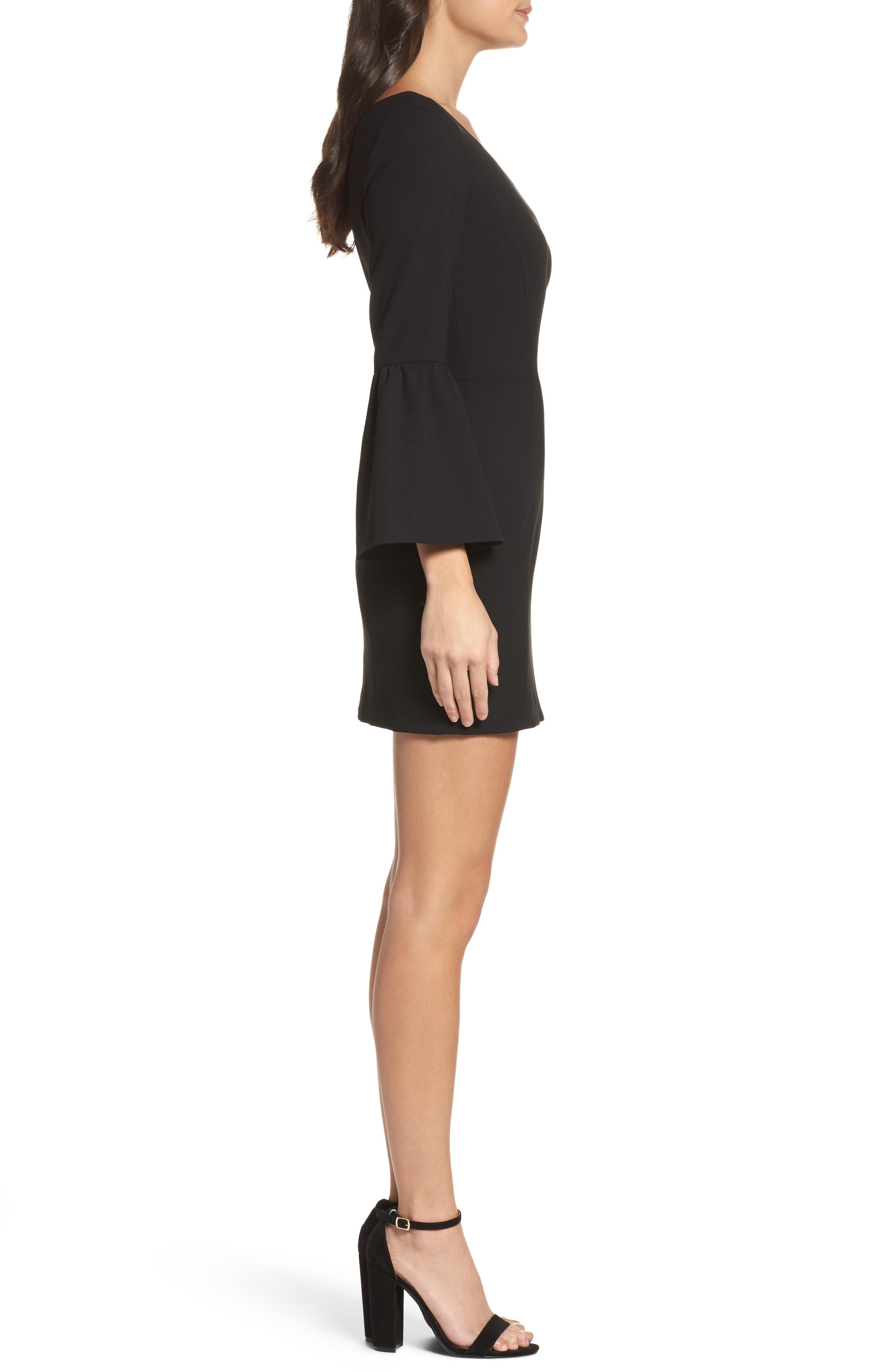 Alternate Image 3  - French Connection Whisper Ruth Bell Sleeve Sheath Dress