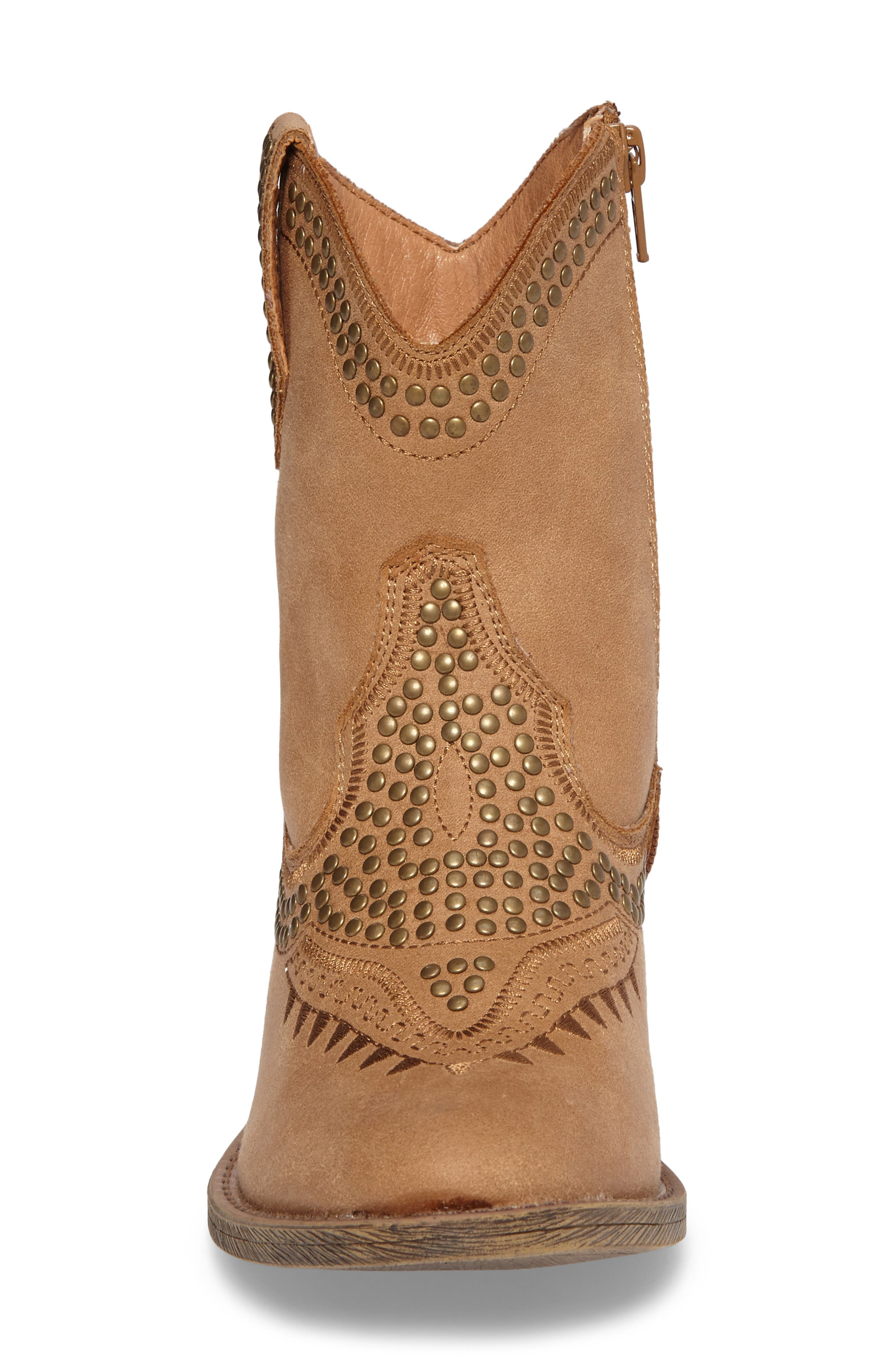 Amour Embellished Western Bootie,                             Alternate thumbnail 3, color,                             Natural
