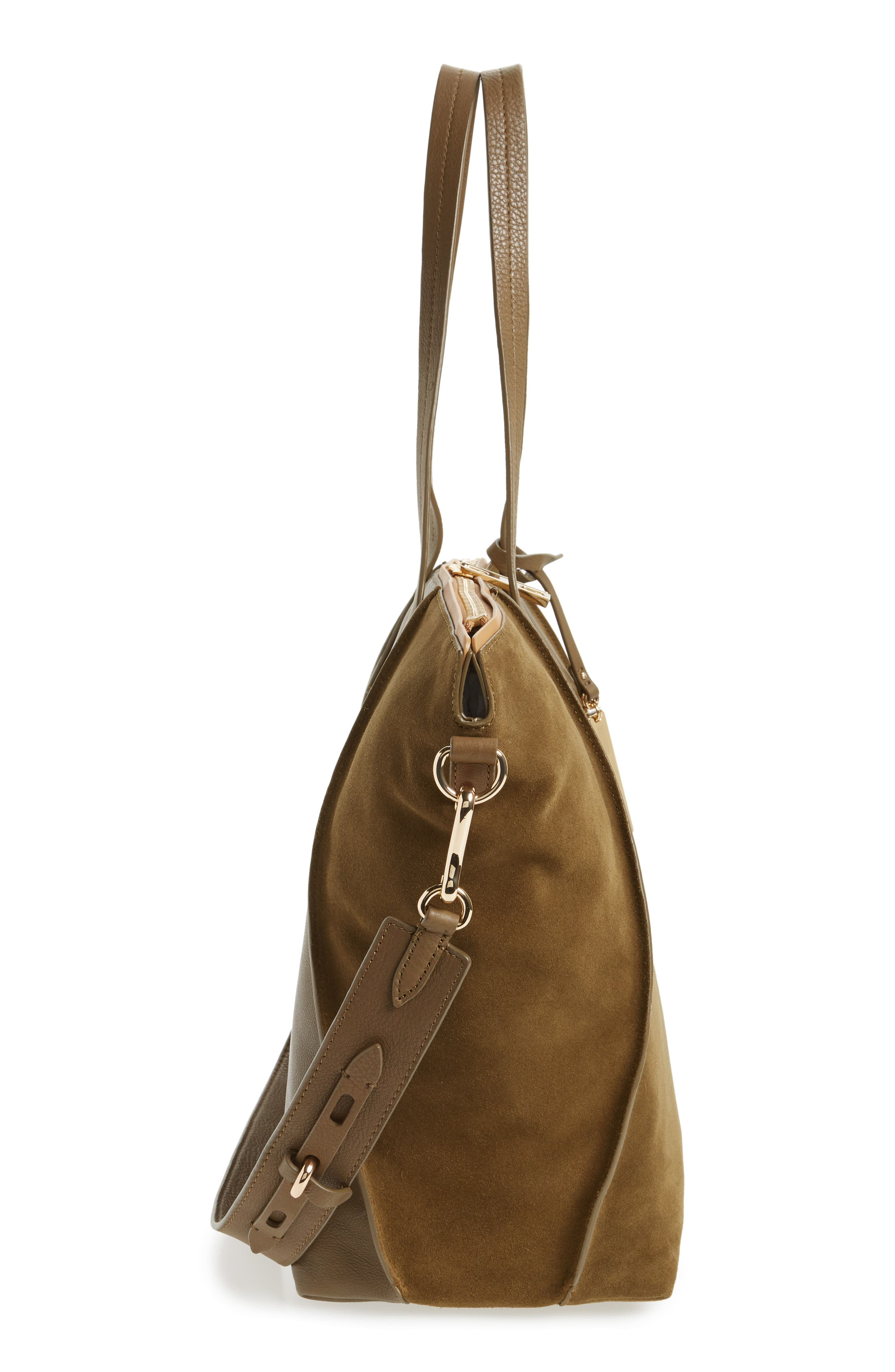 Alternate Image 4  - Vince Camuto Alicia Suede & Leather Tote