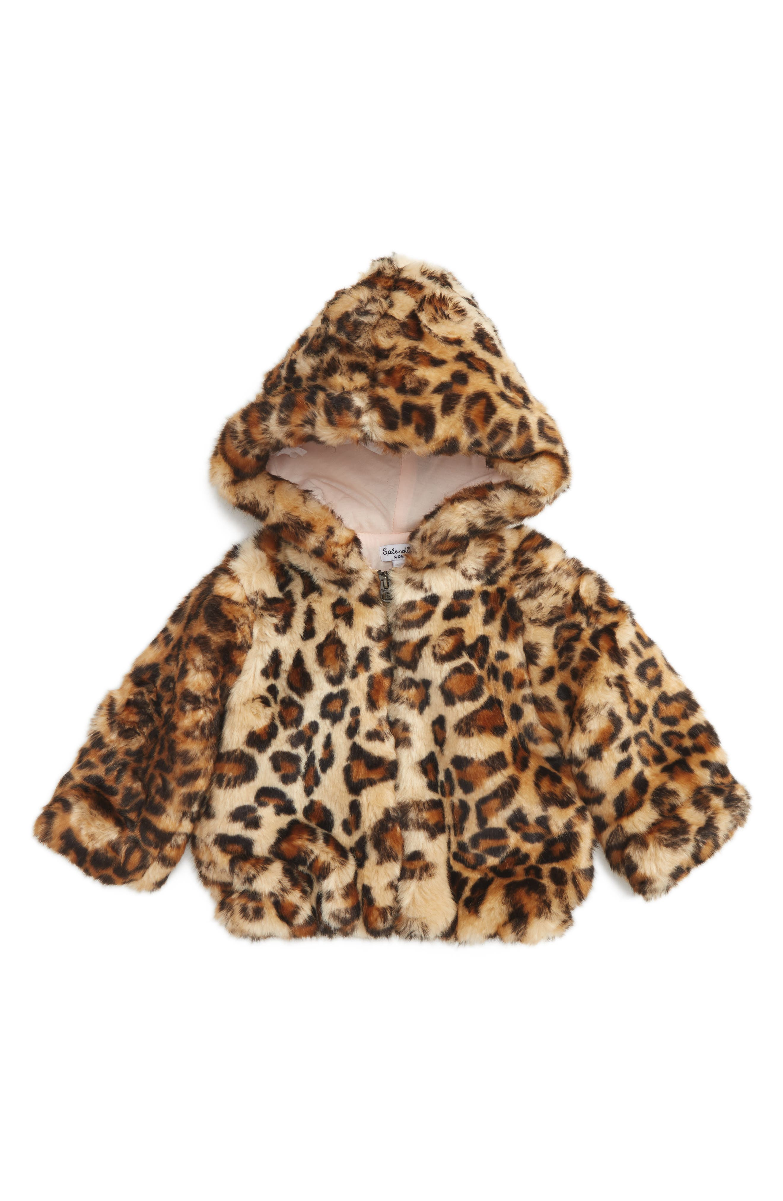 Splendid Faux Fur Jacket (Baby Girls)