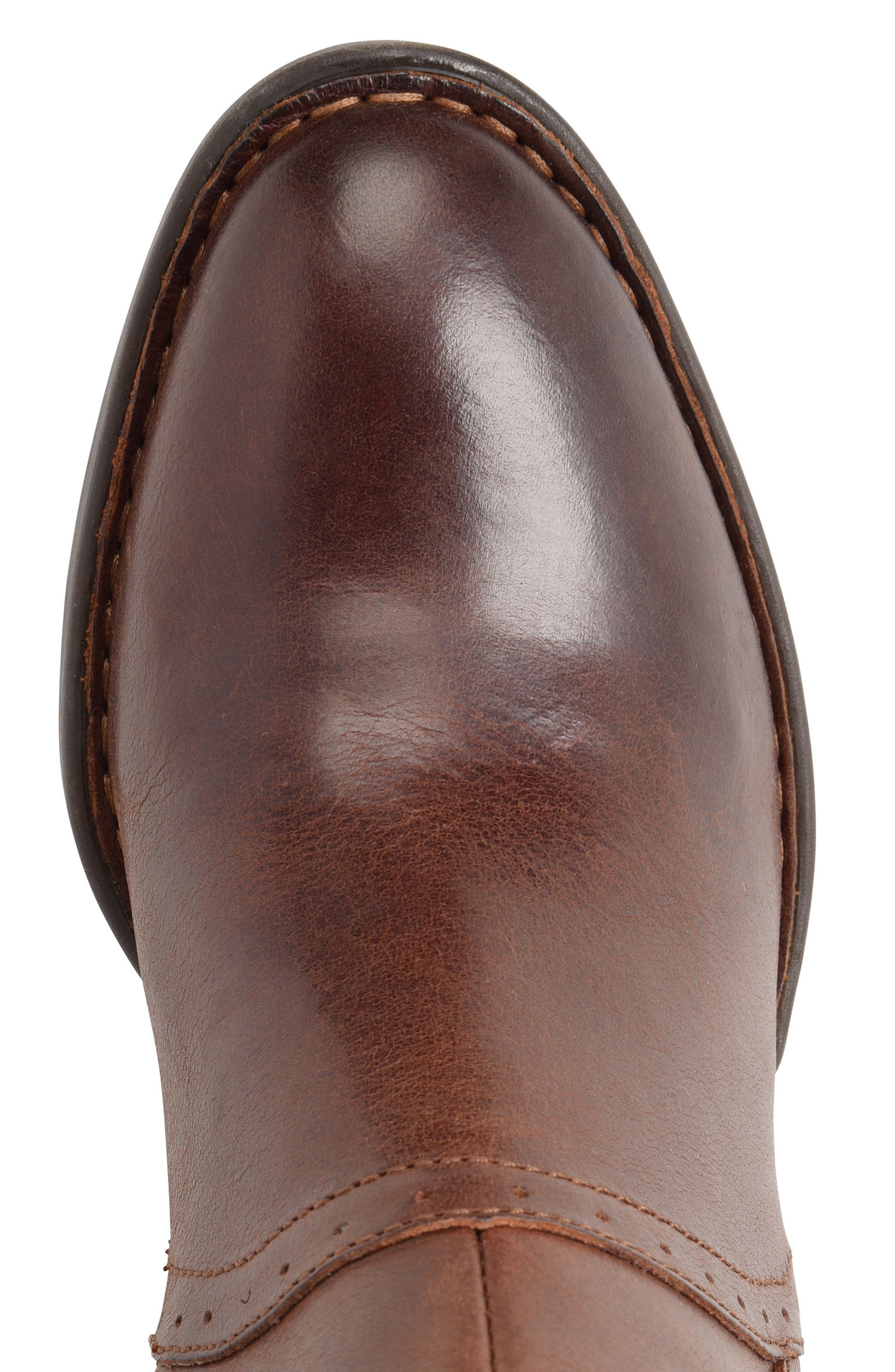 Poly Riding Boot,                             Alternate thumbnail 5, color,                             Brown Full Grain Leather