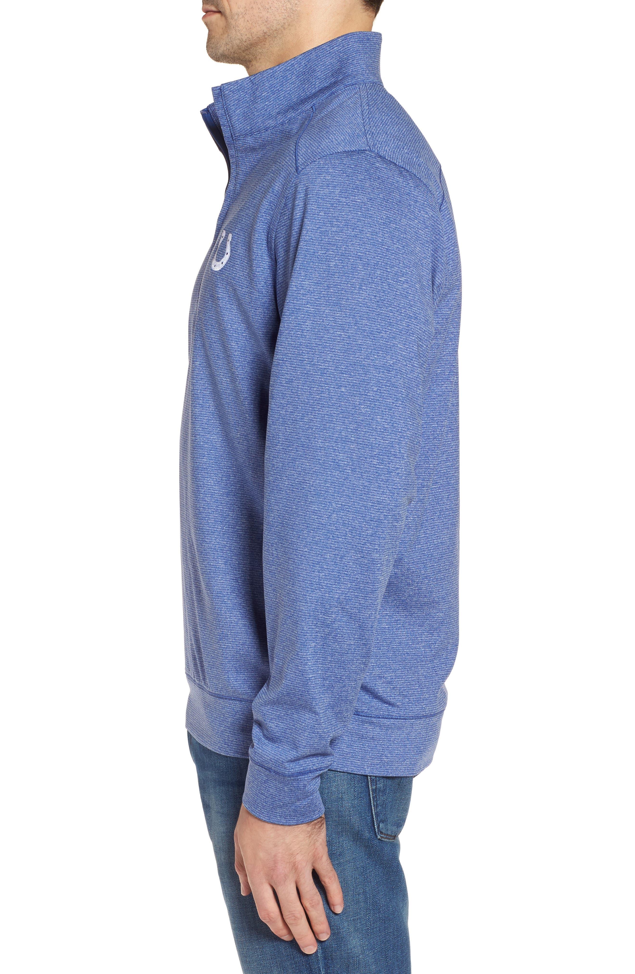 Shoreline - Indianapolis Colts Half Zip Pullover,                             Alternate thumbnail 3, color,                             Tour Blue Heather