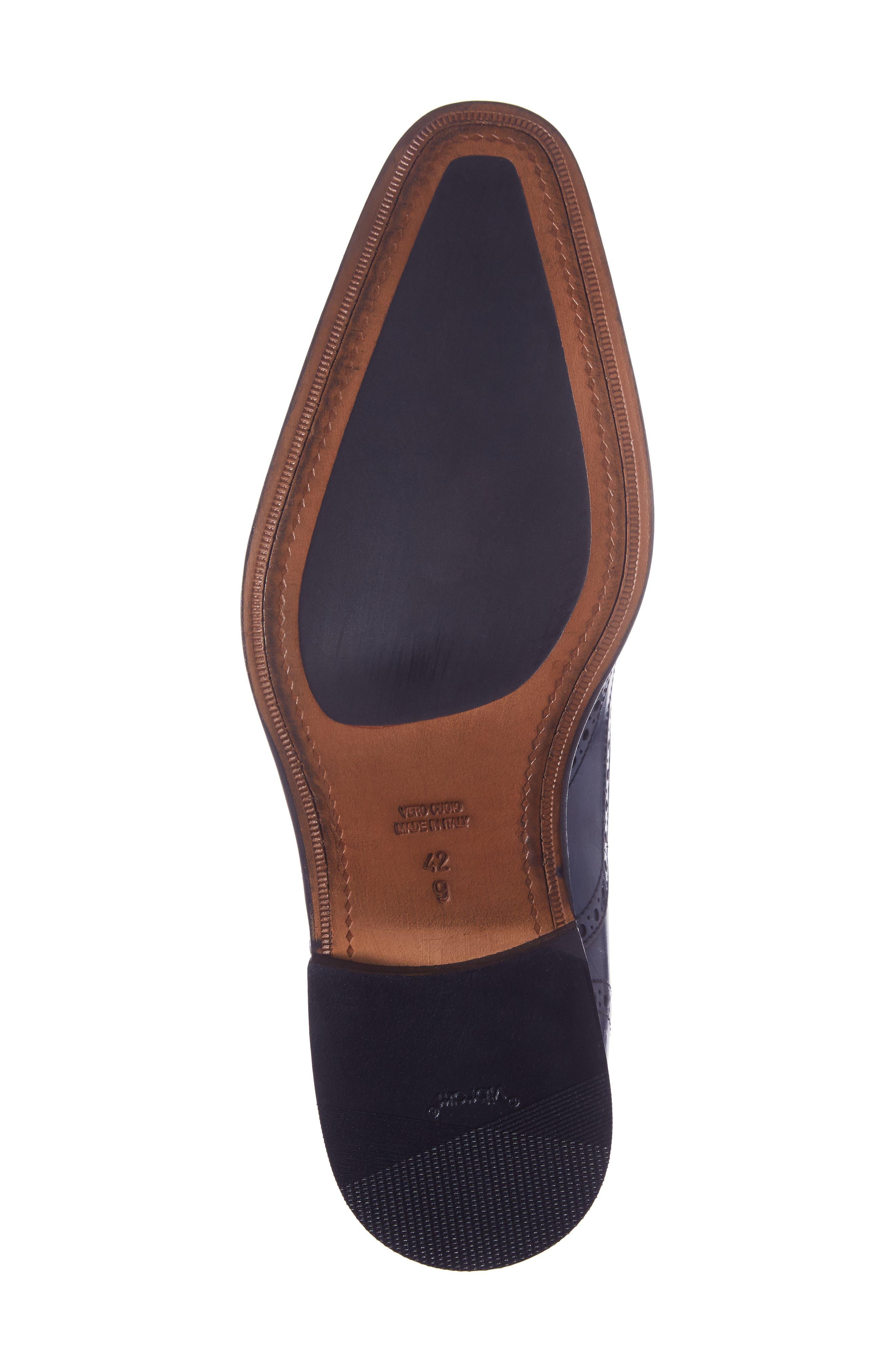 Sabina Medallion Toe Oxford,                             Alternate thumbnail 6, color,                             Ocean Blue Leather