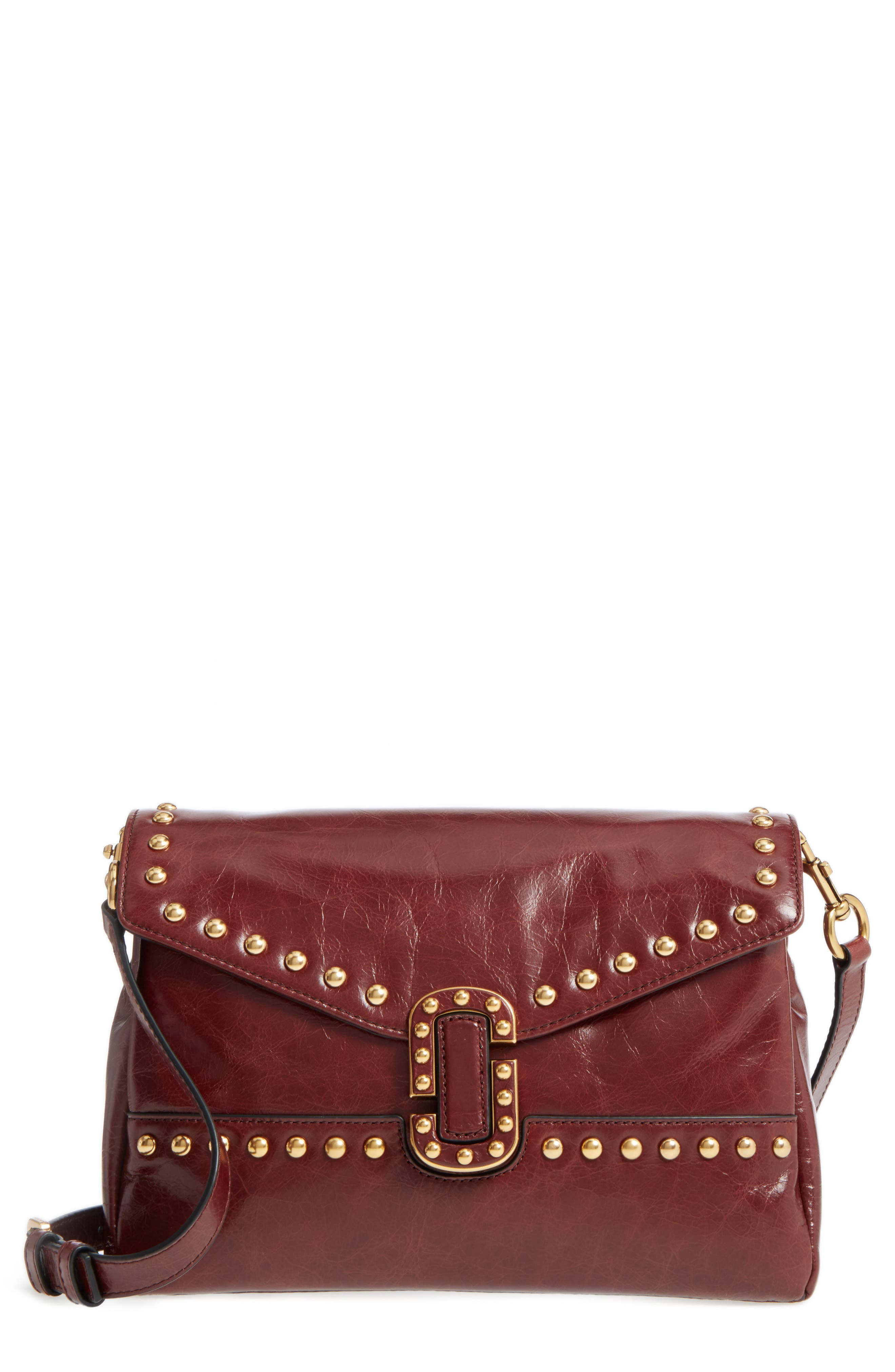 Main Image - MARC JACOBS Small Studded Leather Envelope Bag