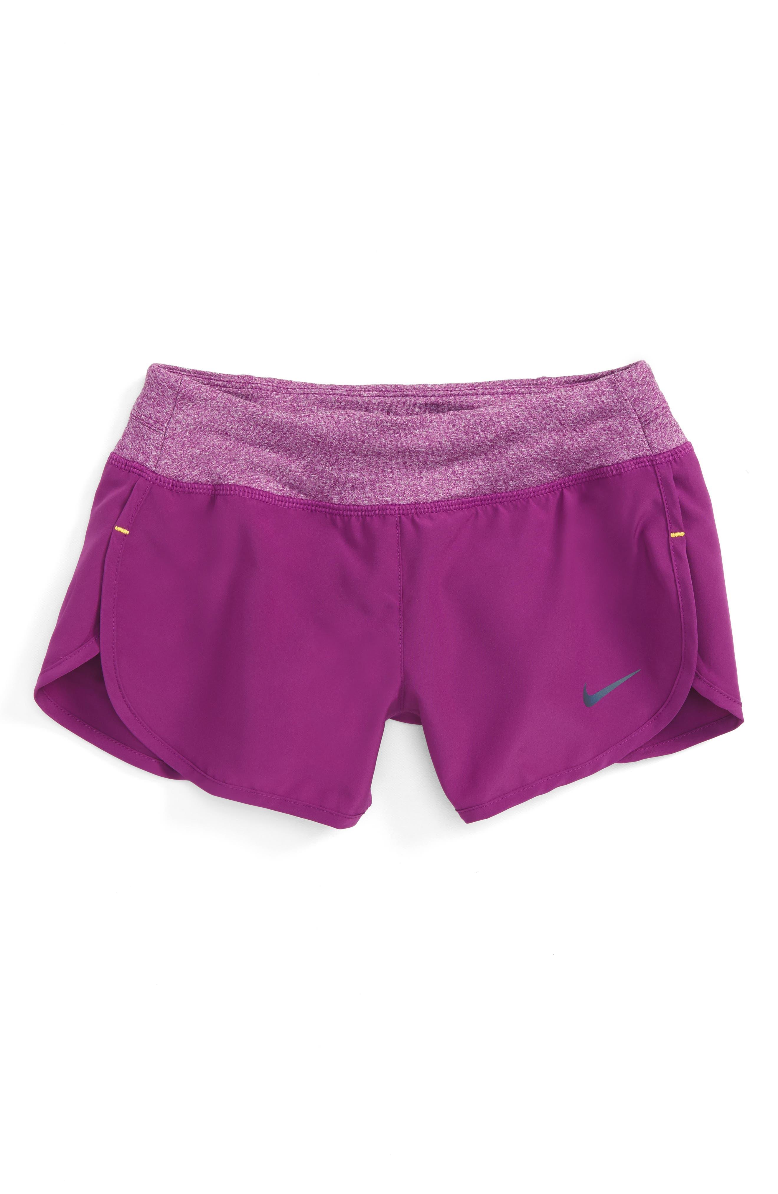 Alternate Image 1 Selected - Nike 'Rival' Dri-FIT Shorts (Big Girls)