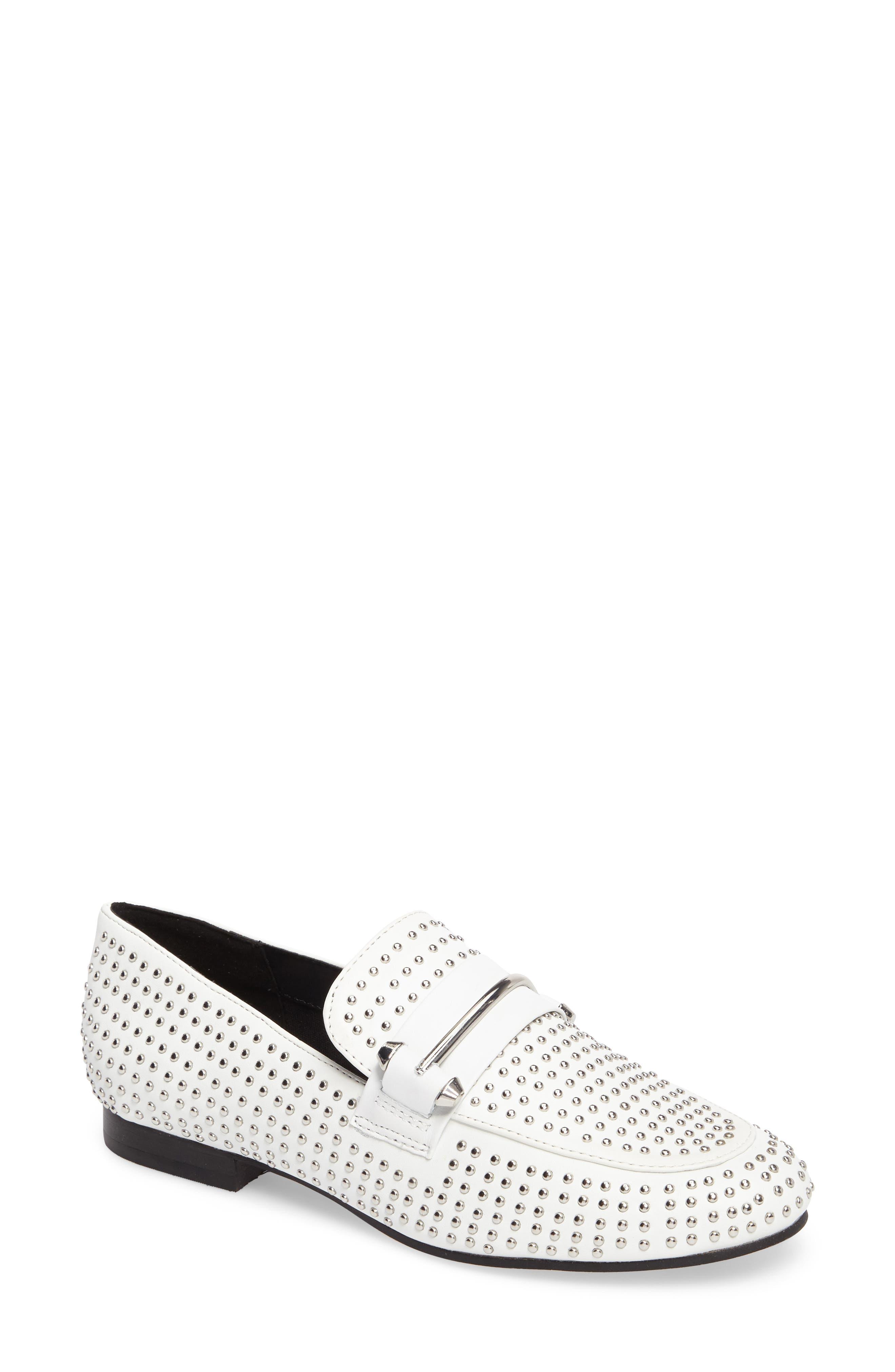 Alternate Image 1 Selected - Steve Madden Kast Studded Loafer (Women)