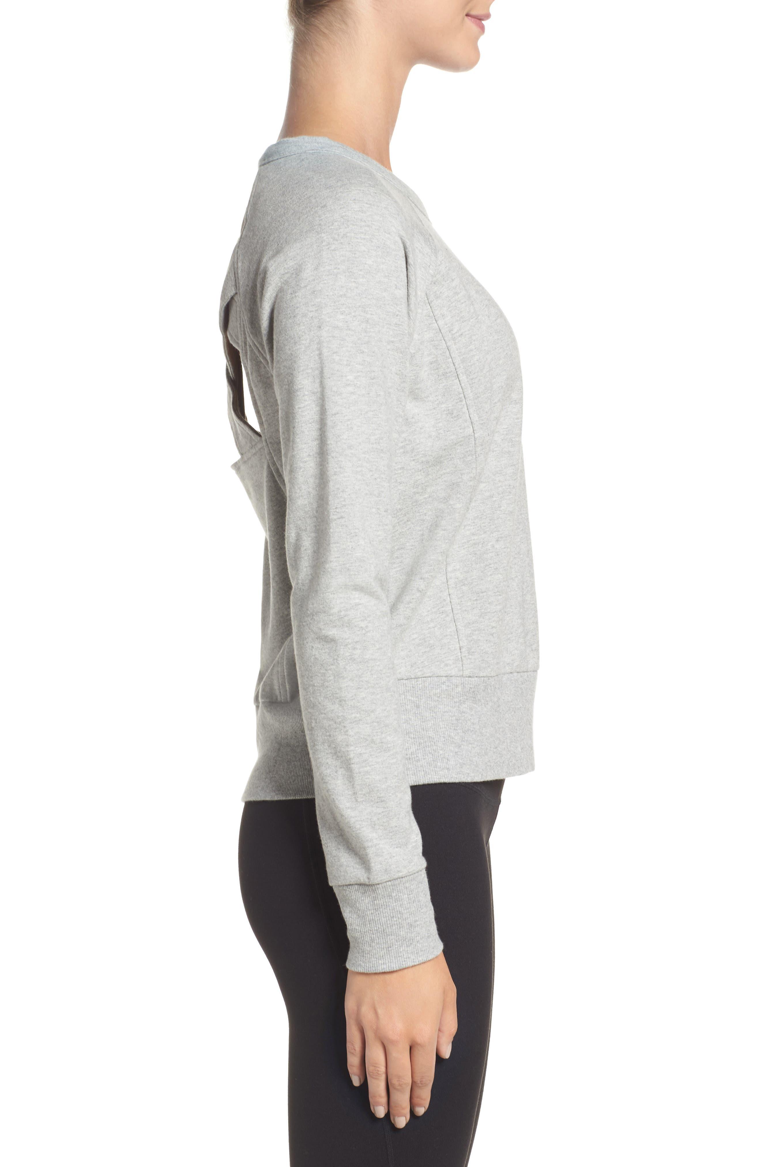 Alternate Image 3  - Zella Covet Crisscross Sweatshirt