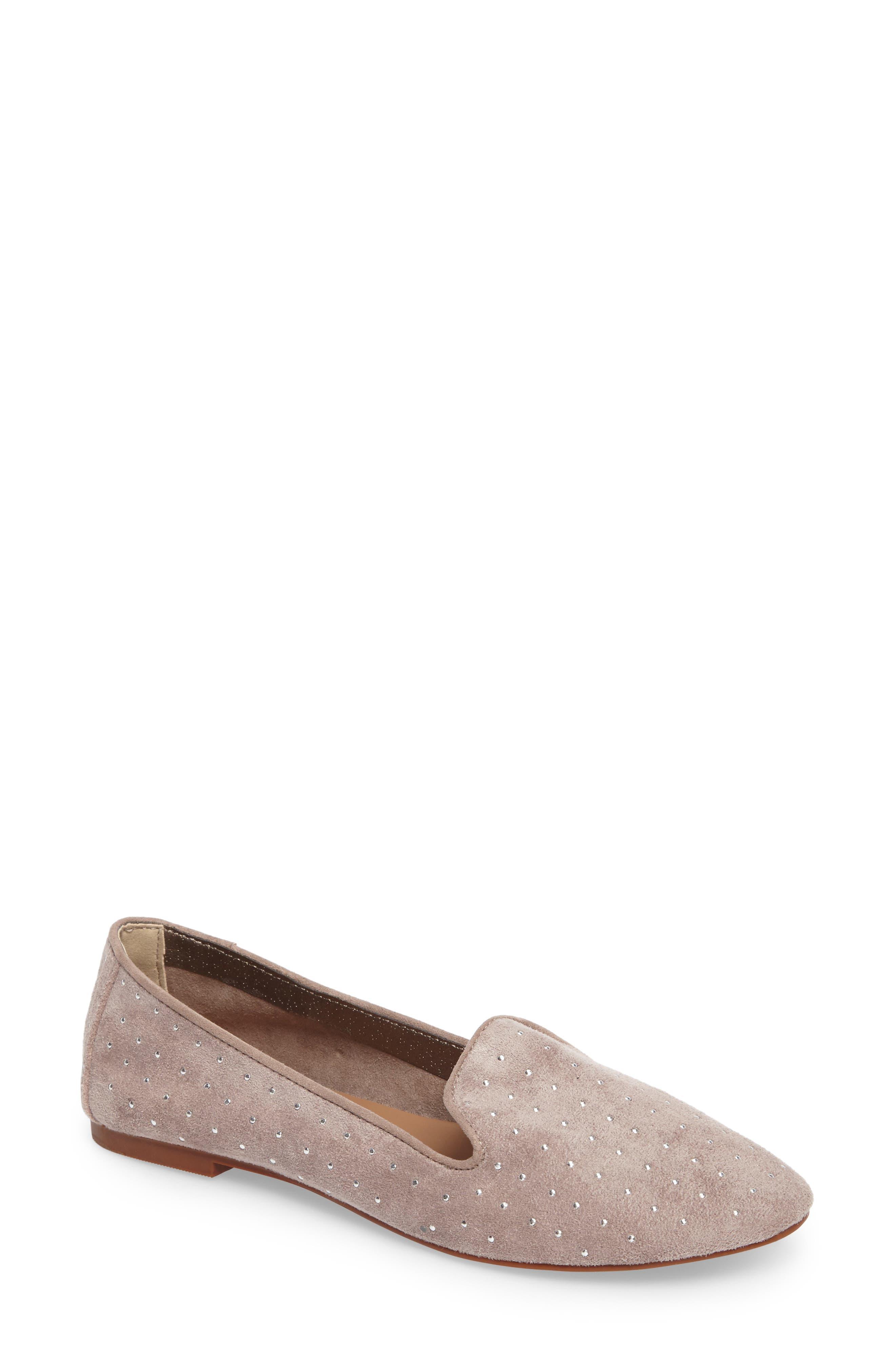 Alternate Image 1 Selected - Topshop Sophie Studded Slip-On Loafers
