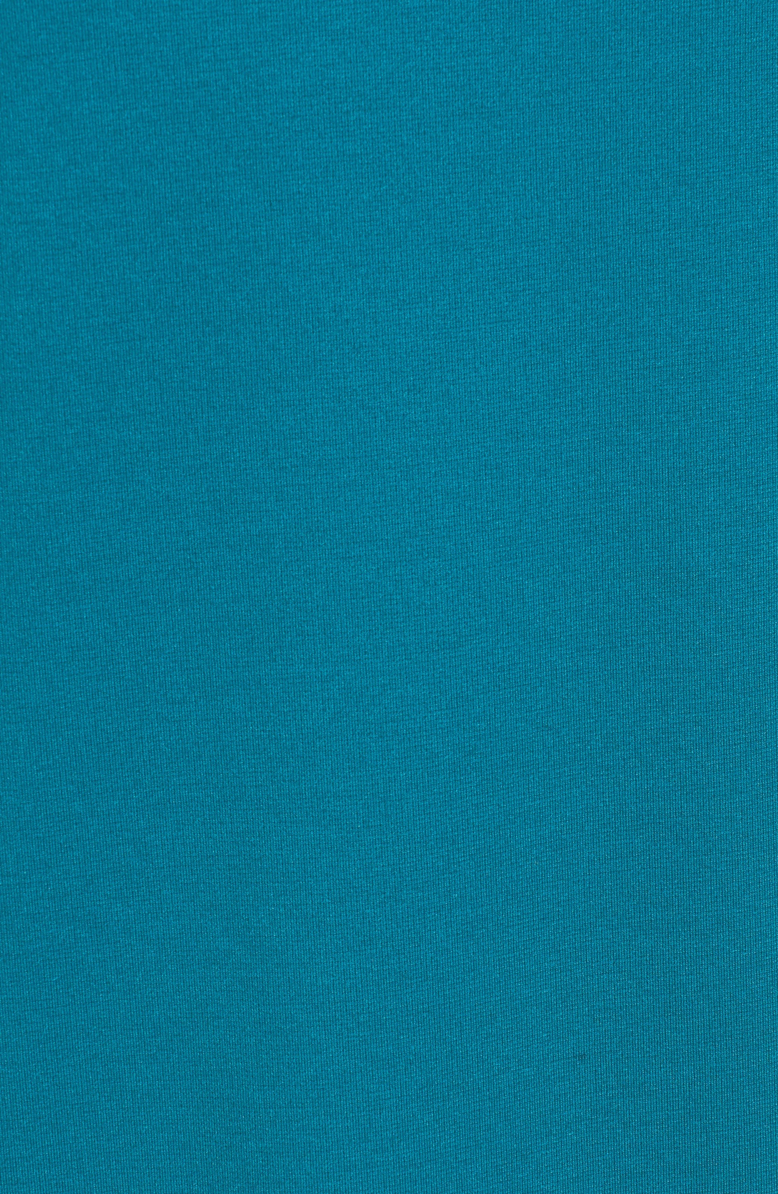 Ruffle Sleeve Shift Dress,                             Alternate thumbnail 5, color,                             Teal
