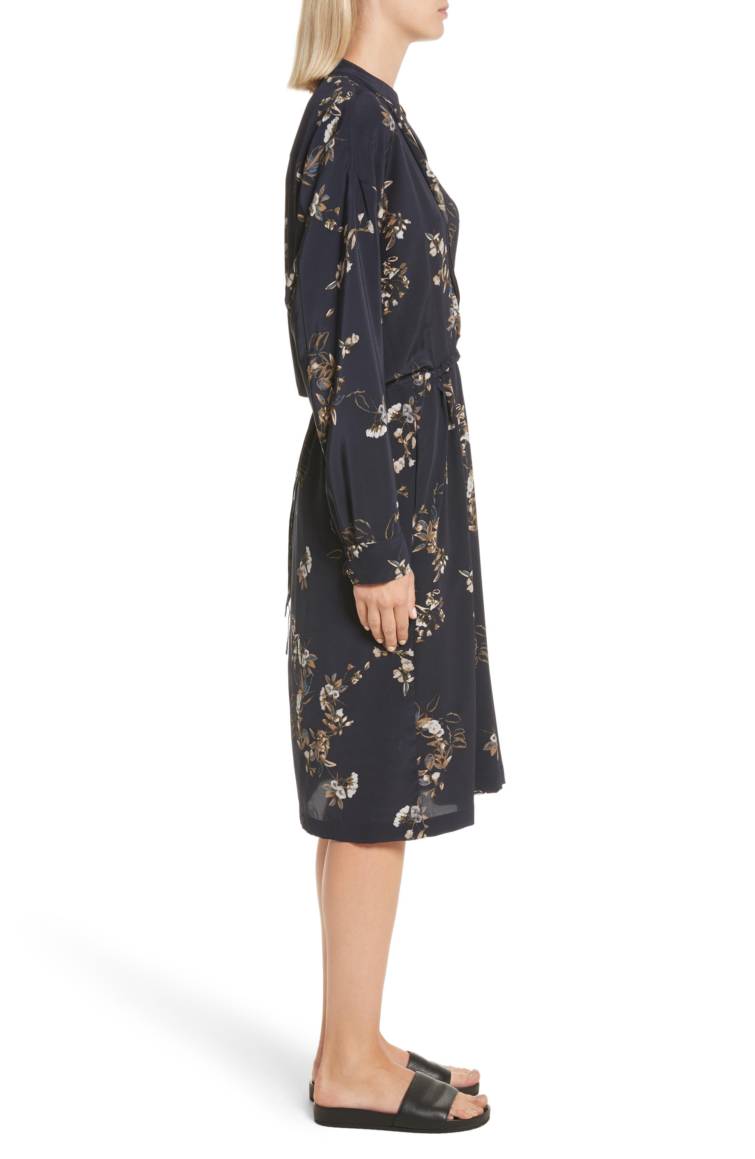 Alternate Image 3  - Vince Silk Floral Shirtdress