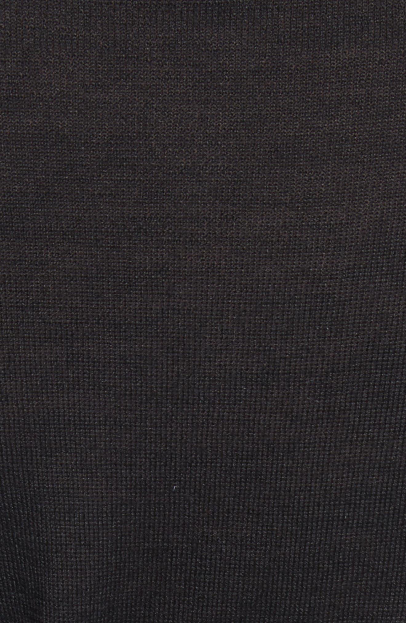 Clinch Detail Sweater,                             Alternate thumbnail 5, color,                             Black
