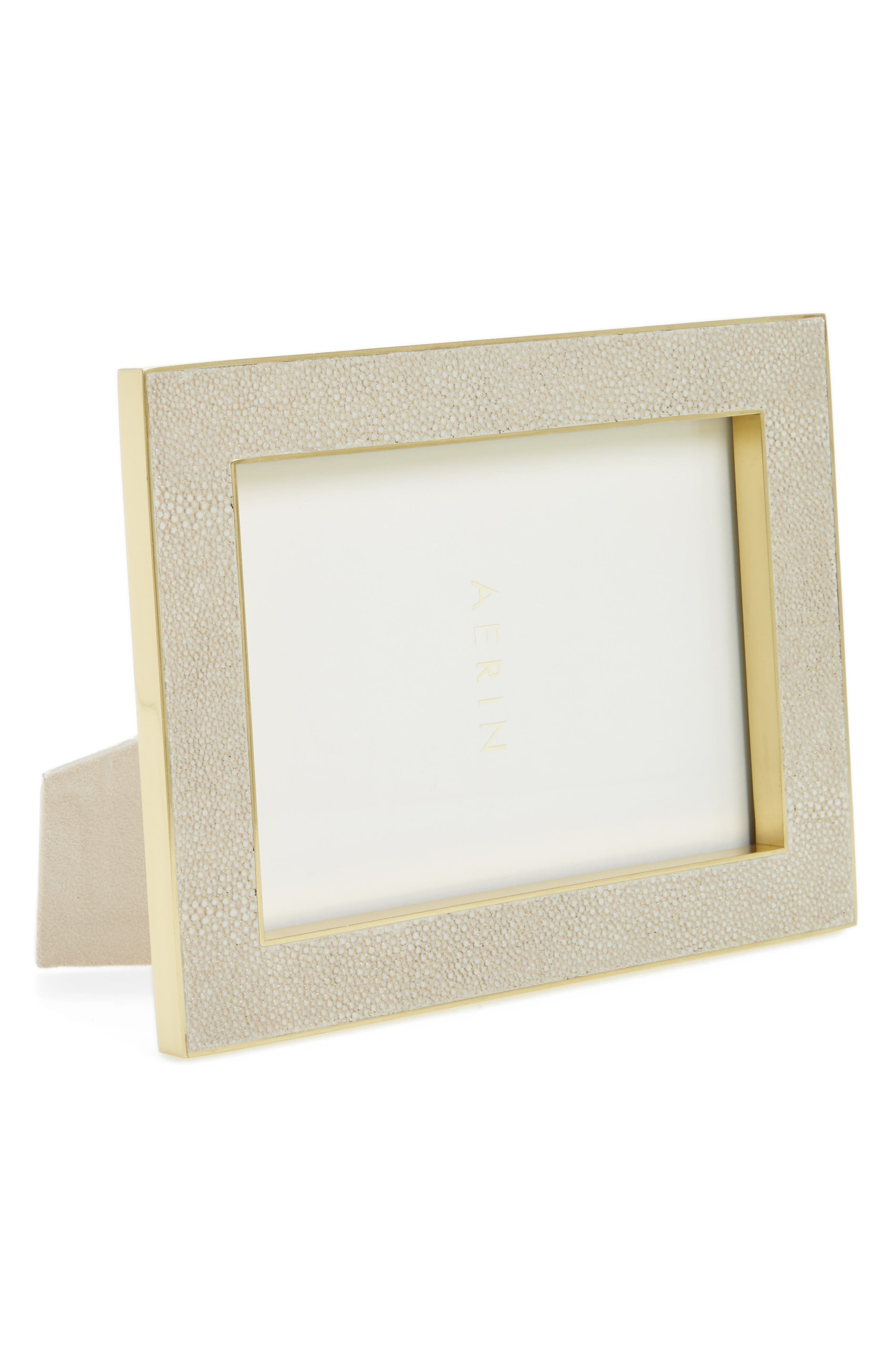 Shagreen Picture Frame,                             Main thumbnail 1, color,                             Wheat