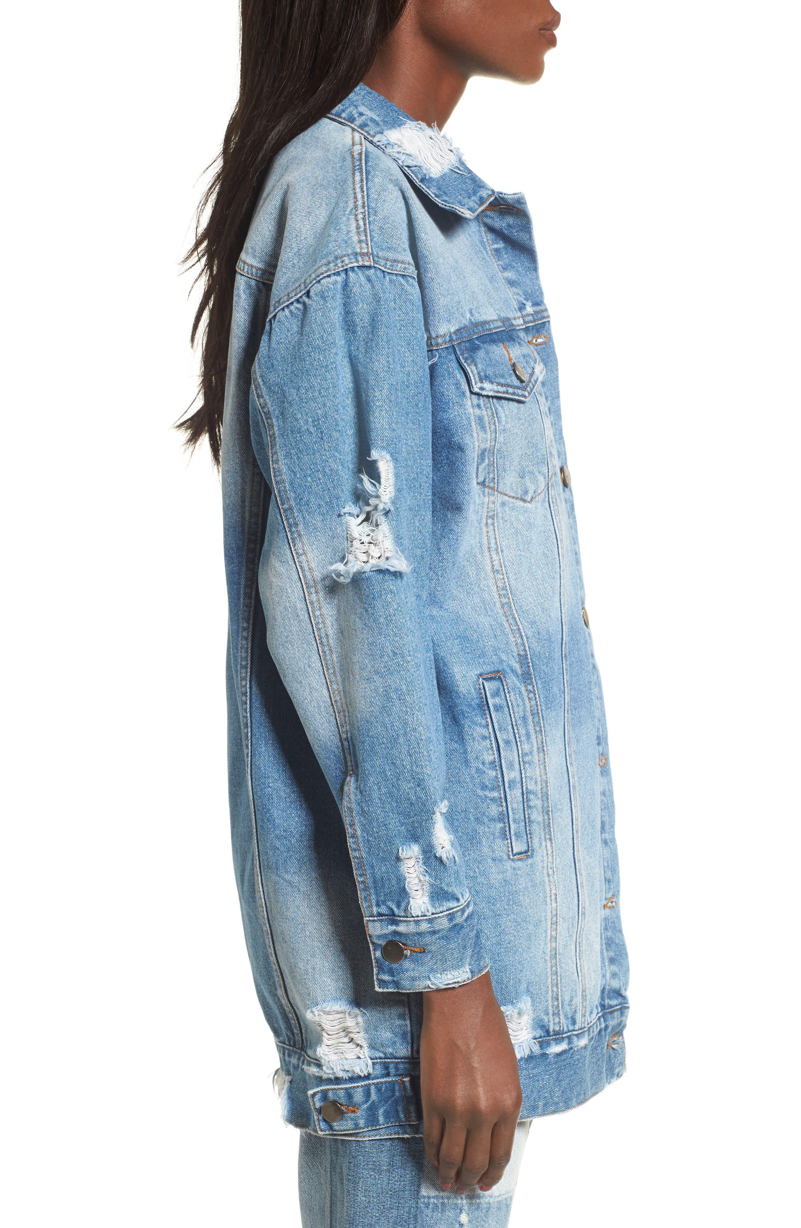 Alternate Image 3  - Elodie Decon Longline Denim Jacket