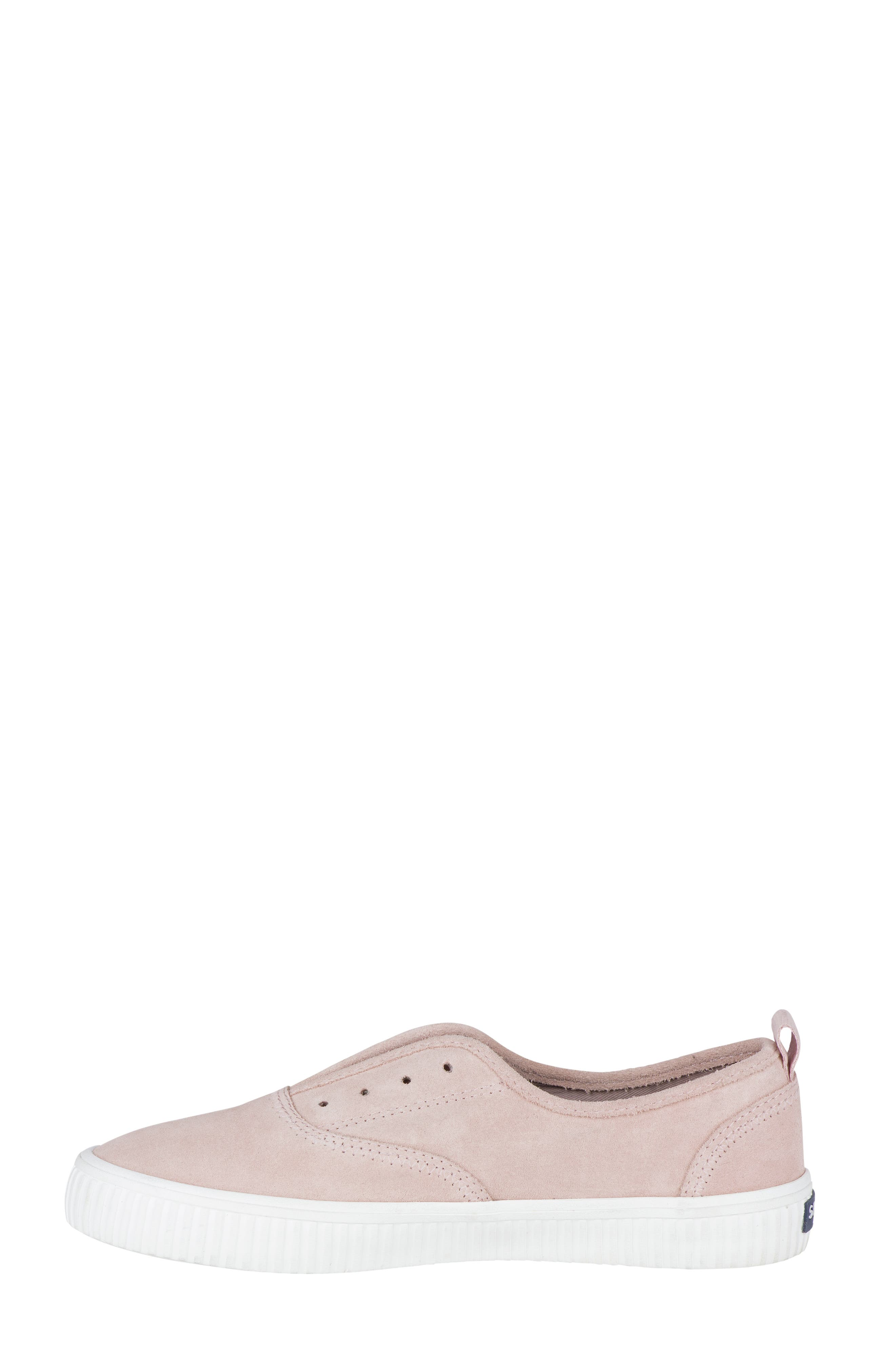 Crest Creeper Slip-On Sneaker,                             Alternate thumbnail 3, color,                             Rose Dust Suede