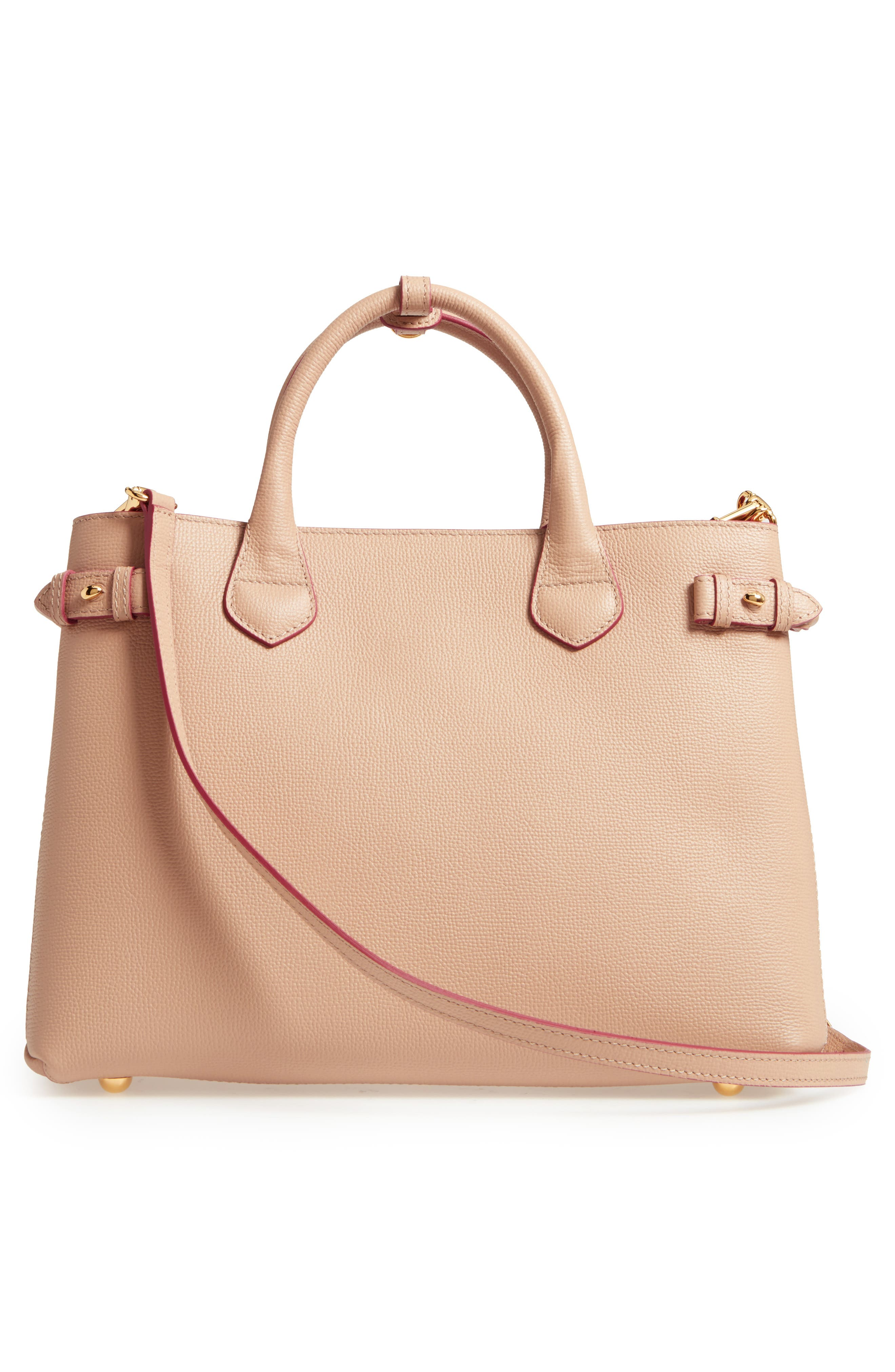 Alternate Image 2  - Burberry Medium Banner Check Leather Tote