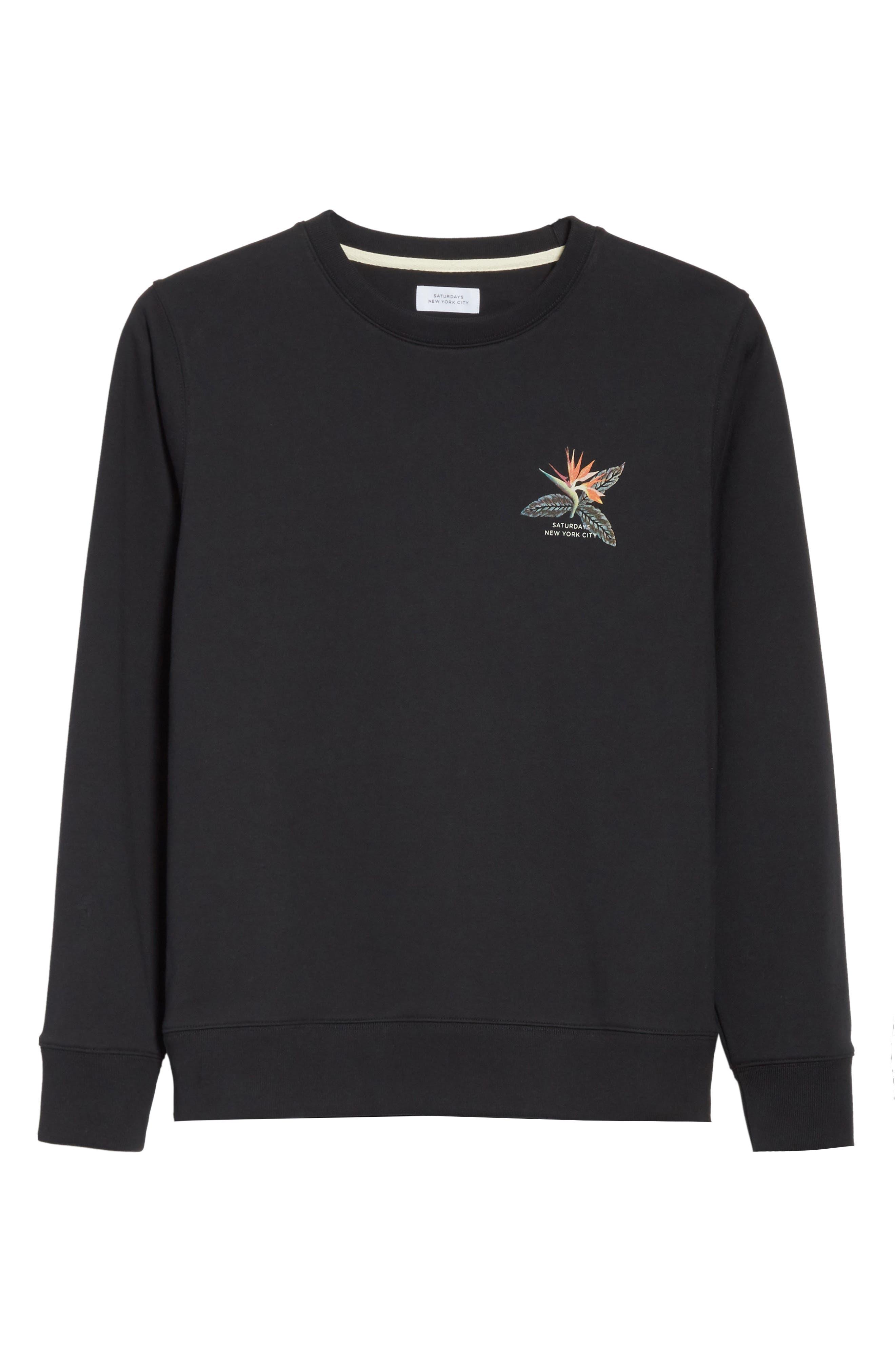 Browery Paradise Graphic Sweatshirt,                             Alternate thumbnail 6, color,                             Black