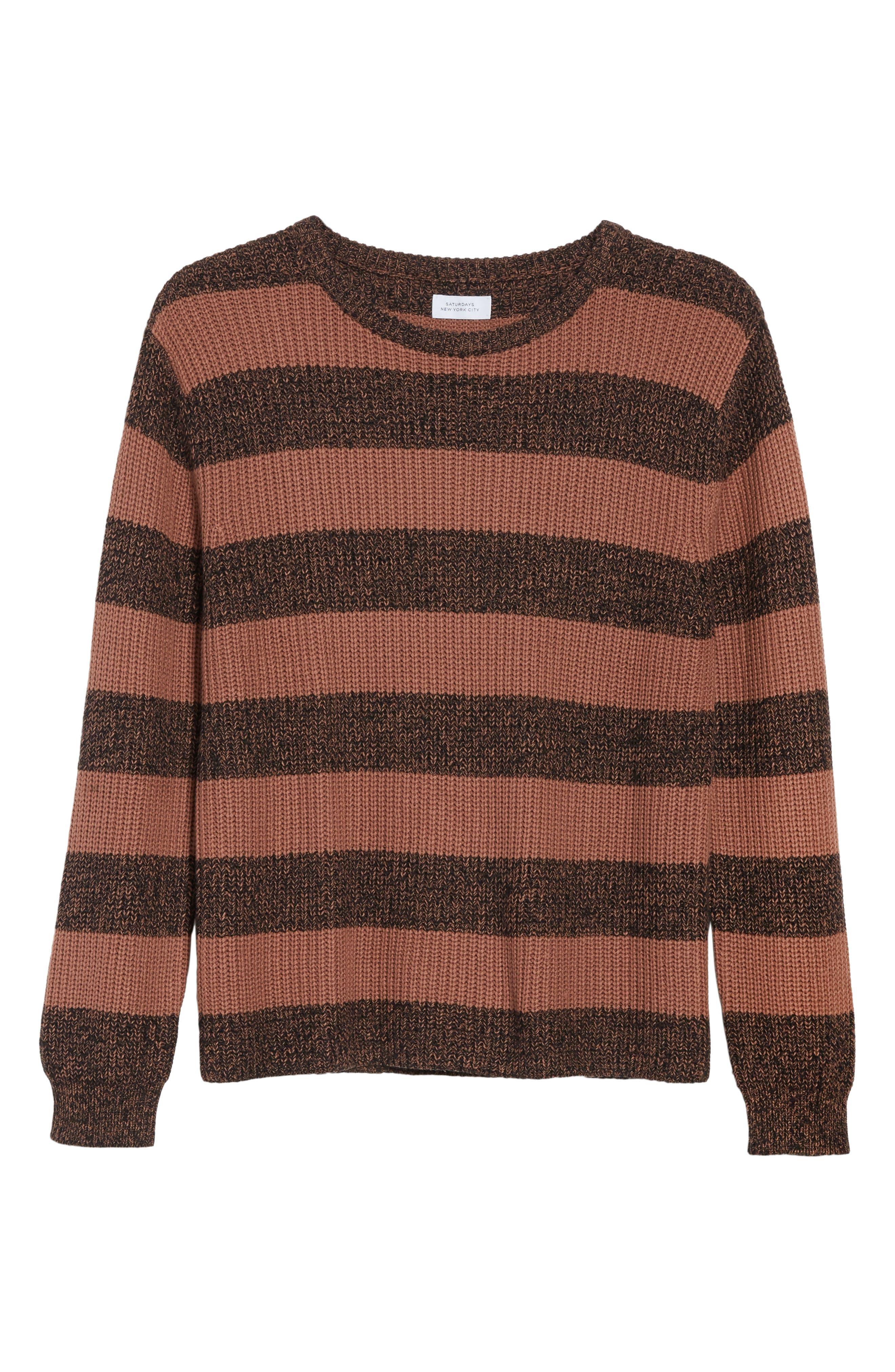 Alternate Image 6  - Saturdays NYC Lee Stripe Crewneck Sweater