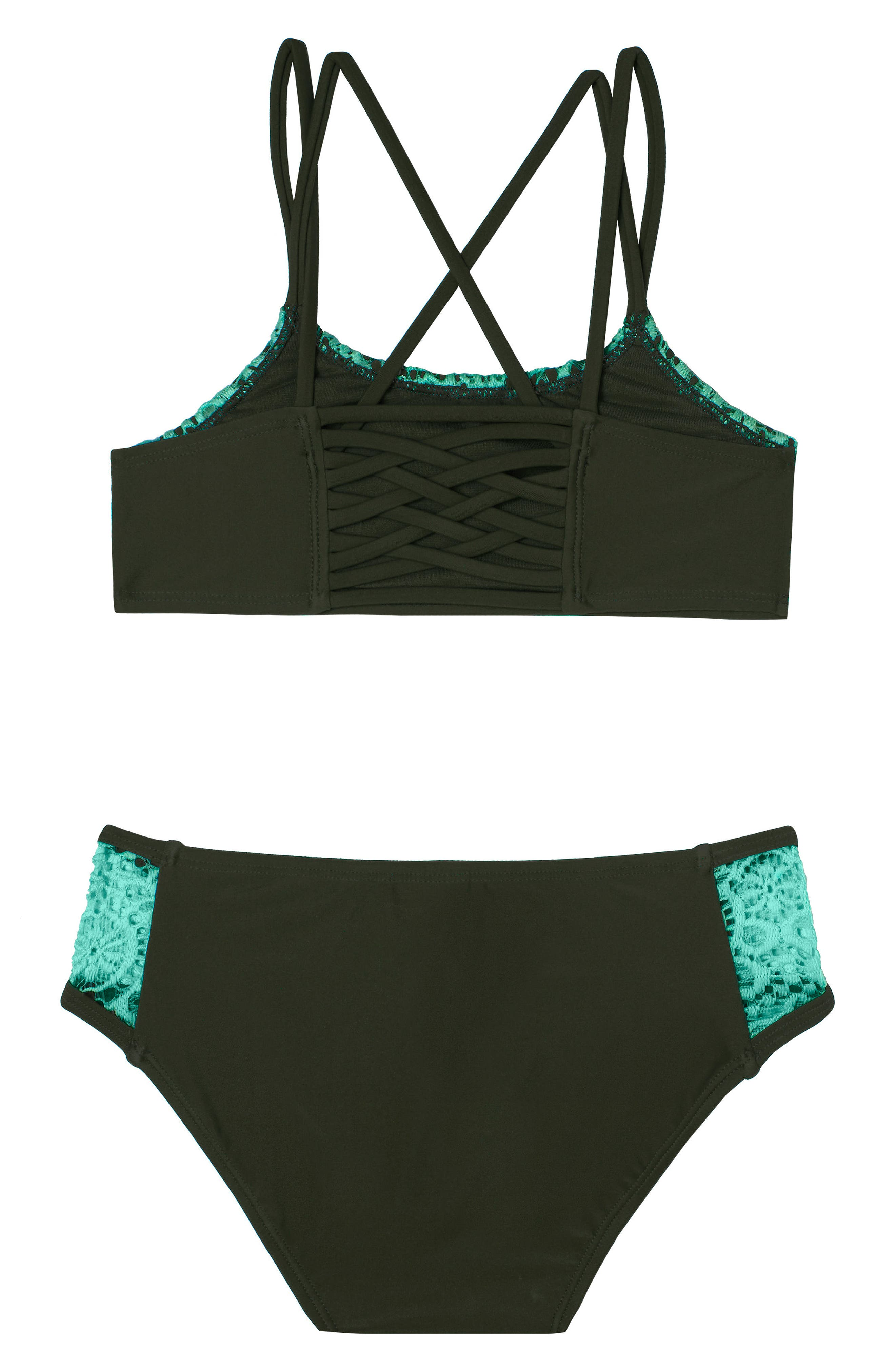 Festival Fantasy Two-Piece Swimsuit,                             Alternate thumbnail 2, color,                             Green