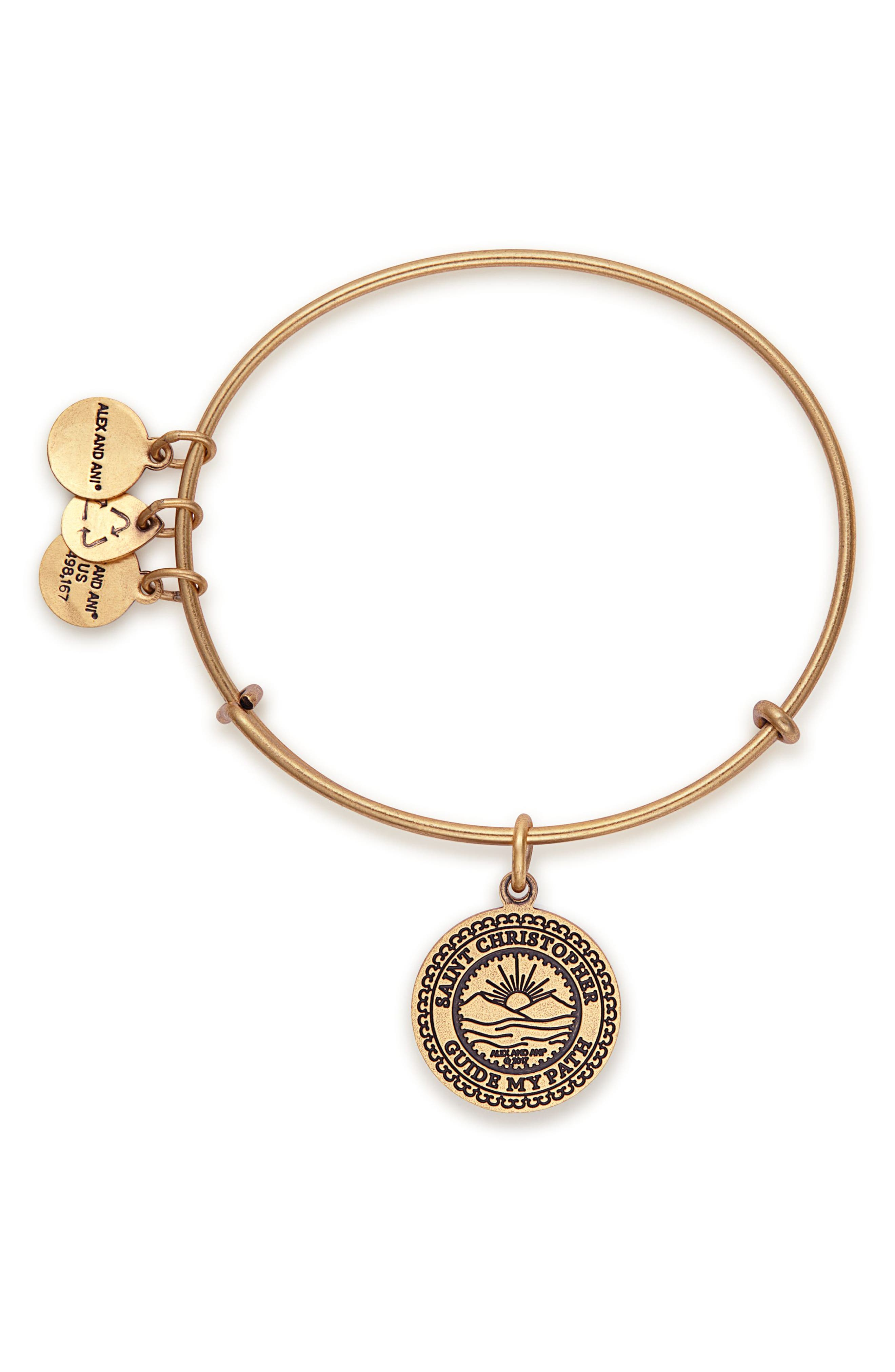 Alternate Image 2  - Alex and Ani St. Christopher Adjustable Wire Bangle
