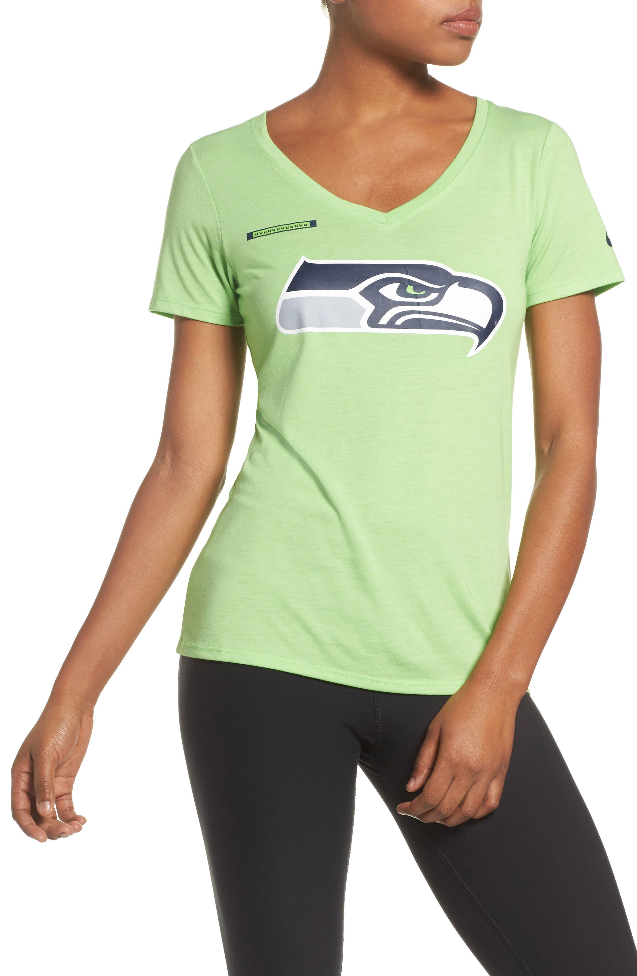 NFL Logo Tee,                             Main thumbnail 1, color,                             Action Green/ Seahawks