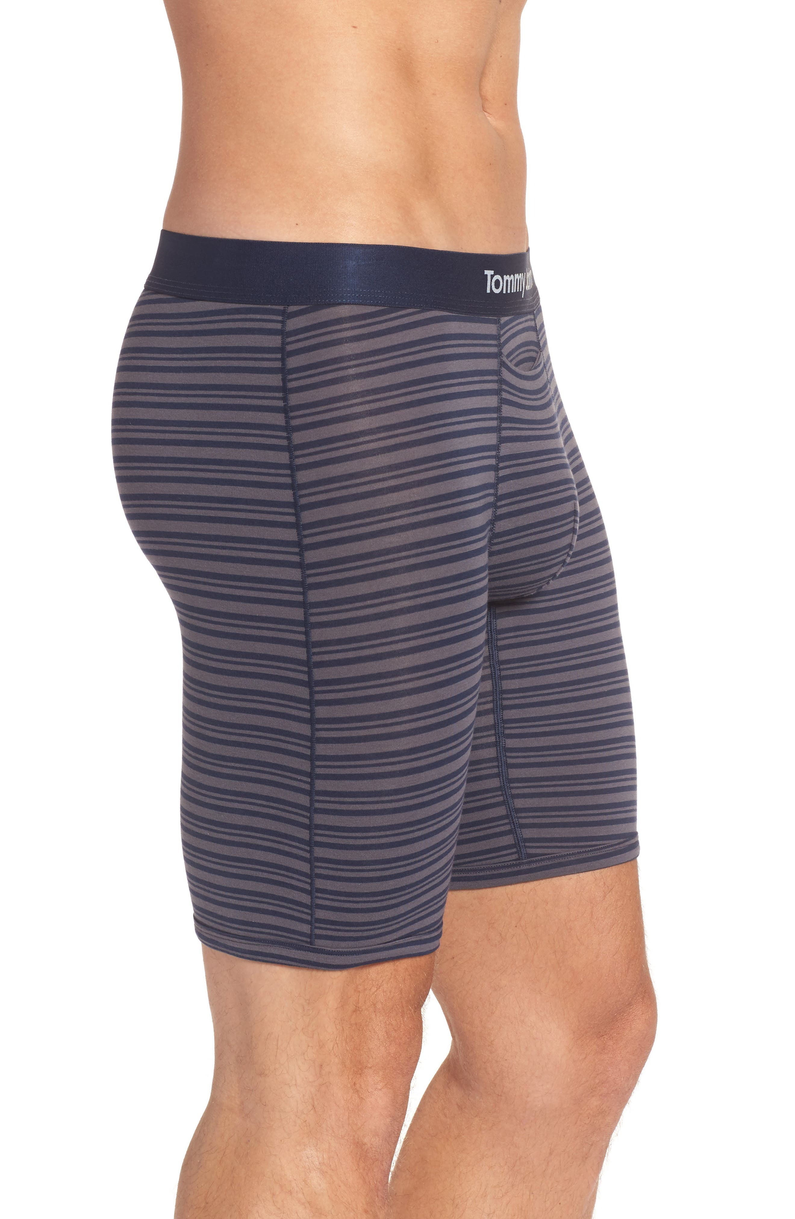 Cool Cotton Mitch Stripe Boxer Briefs,                             Alternate thumbnail 3, color,                             Dress Blues Stripe