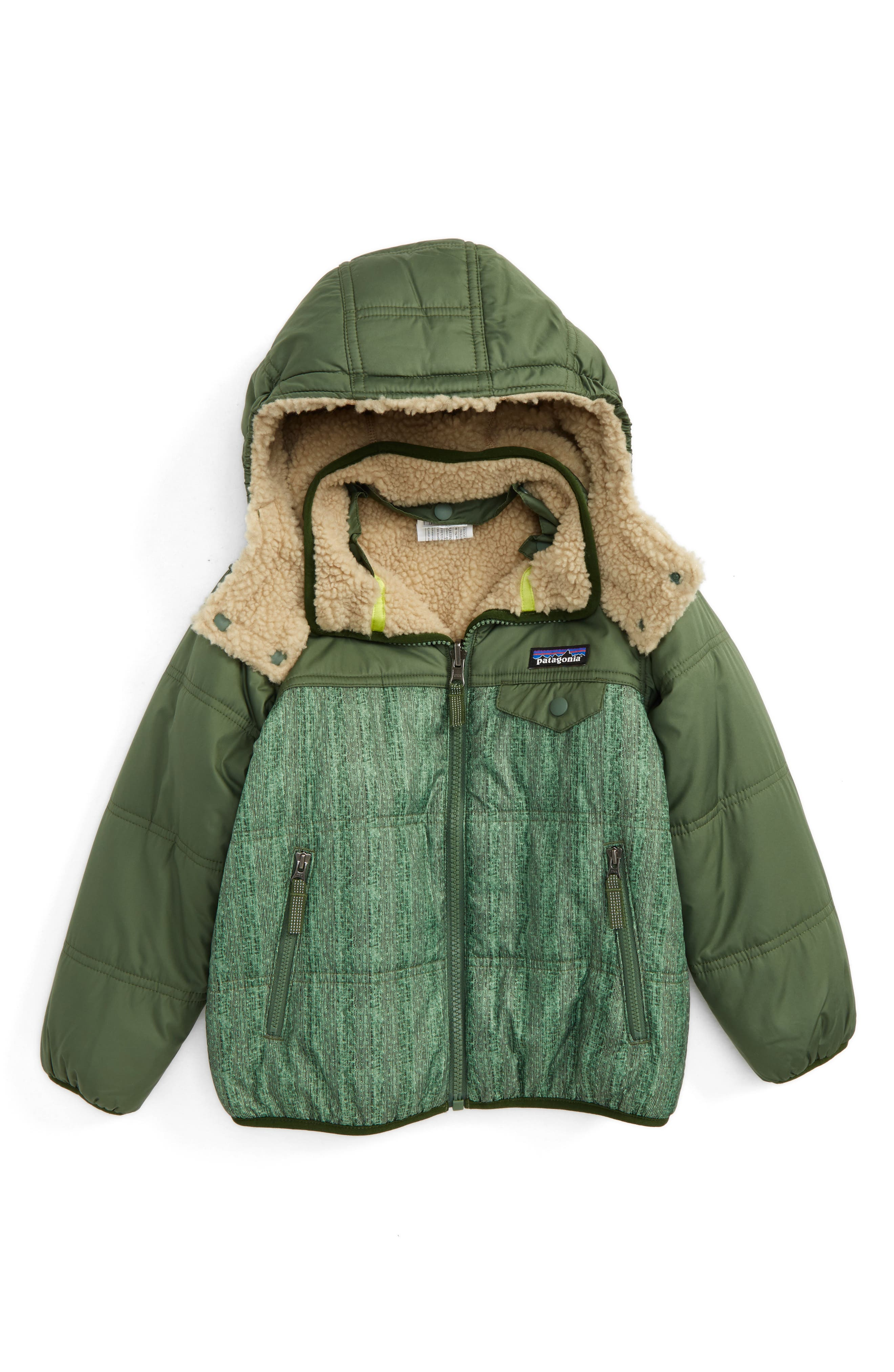 'Tribbles' Reversible Water Resistant Snow Jacket,                         Main,                         color, Downstream Dobby/ Glades Green