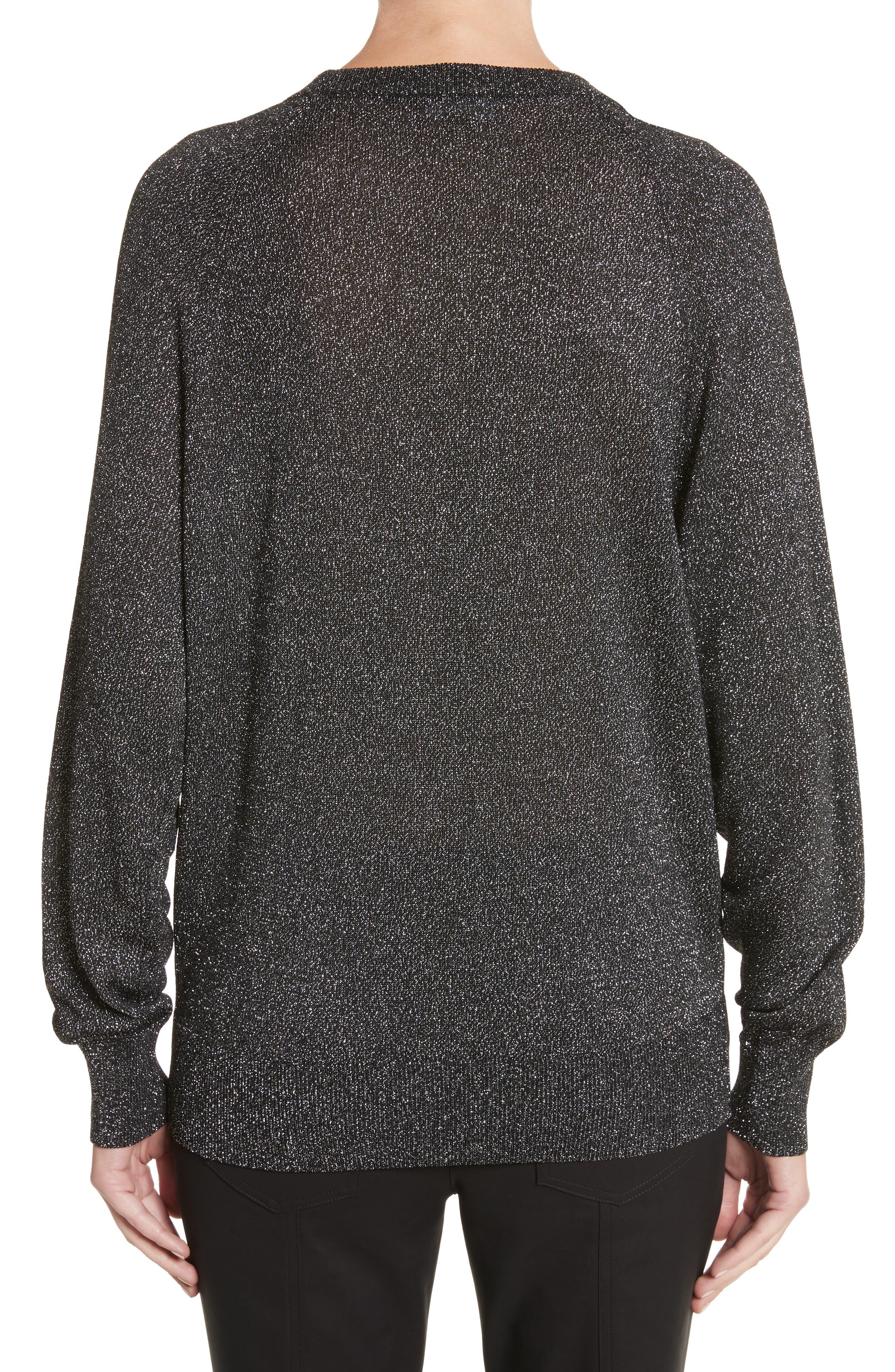 Alternate Image 2  - Michael Kors Metallic Knit Raglan Pullover