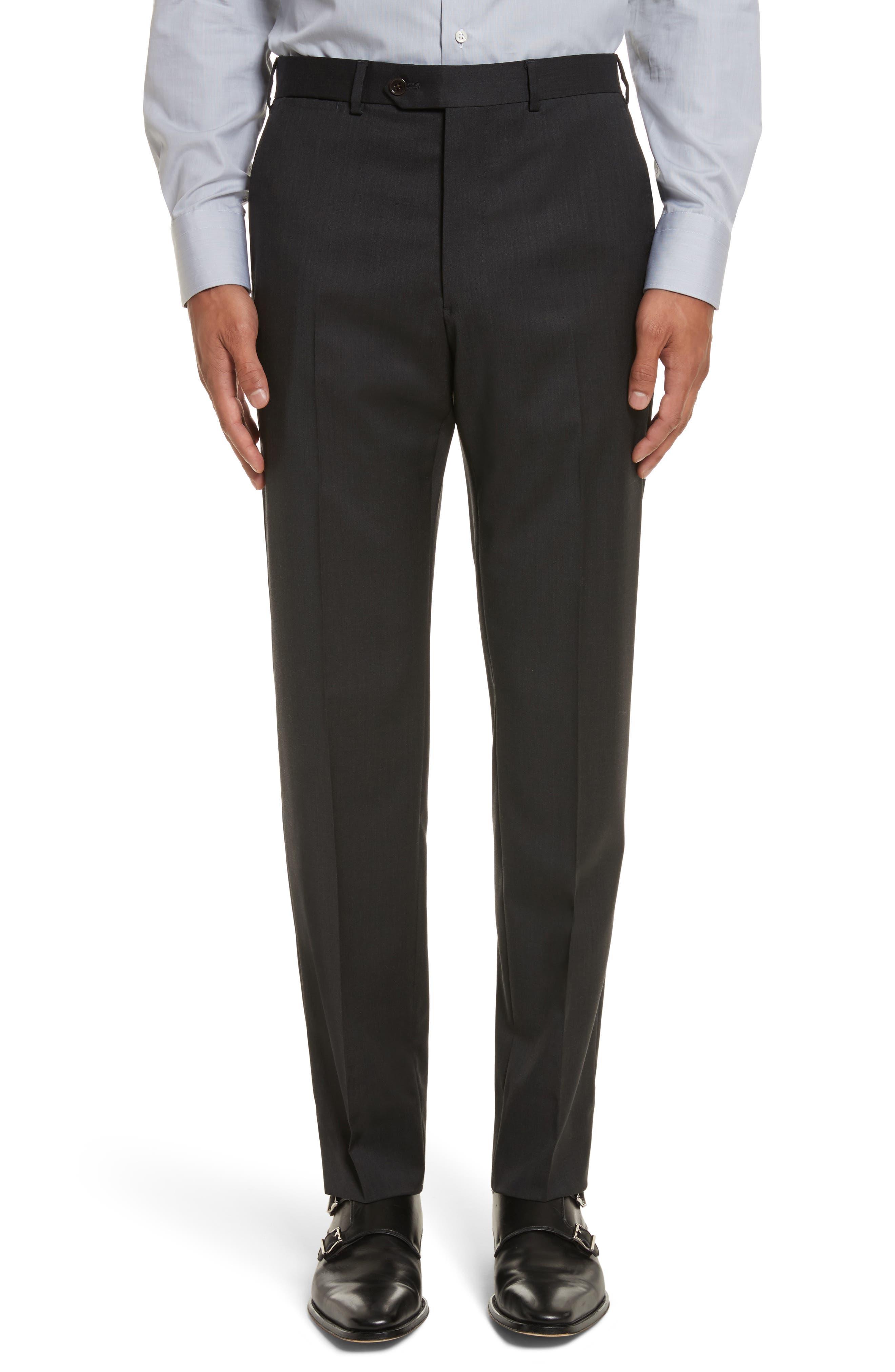 'G-Line' Trim Fit Solid Wool Suit,                             Alternate thumbnail 6, color,                             Charcoal