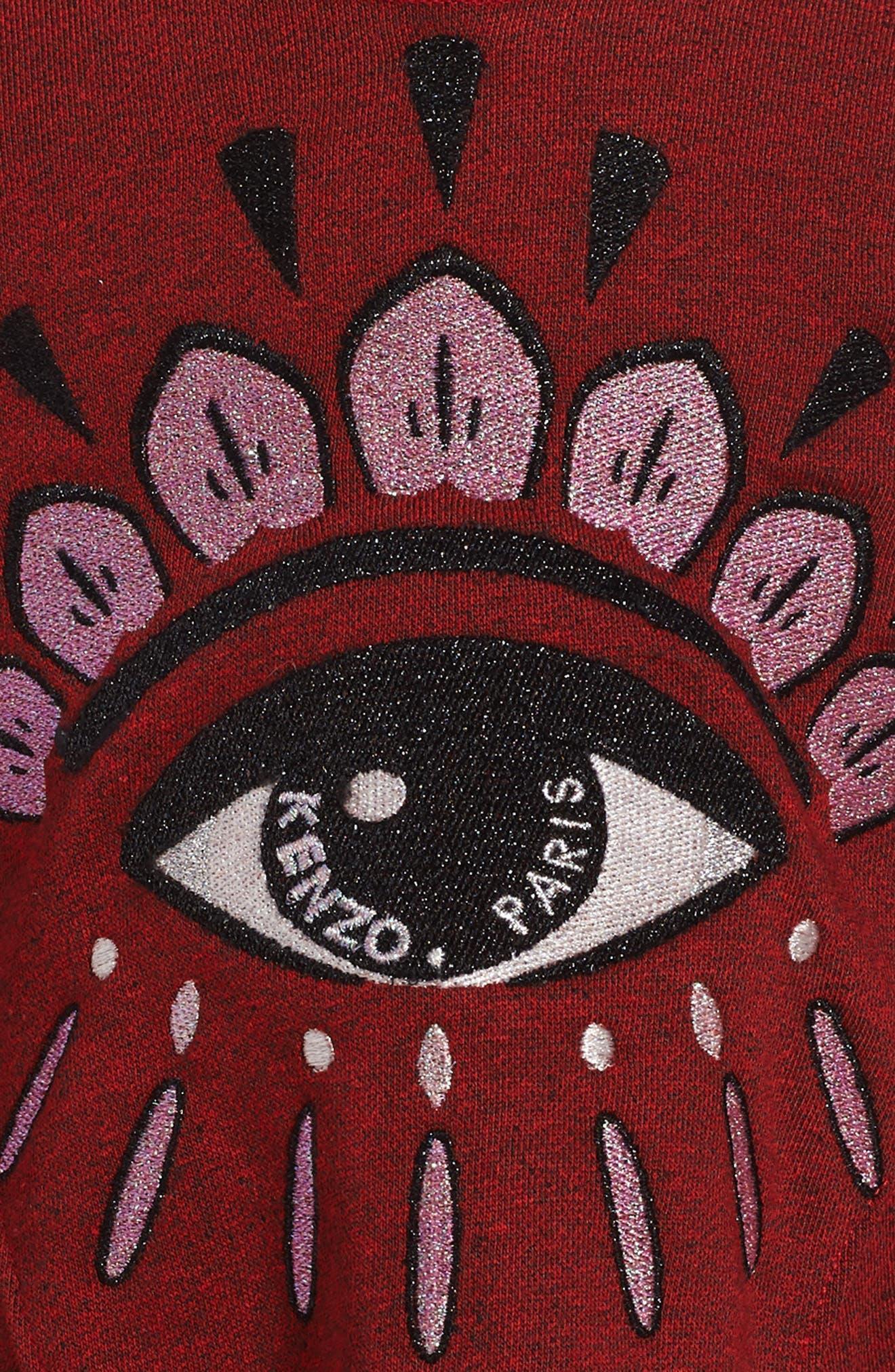 Eye Graphic Tee,                             Alternate thumbnail 3, color,                             Dark Red