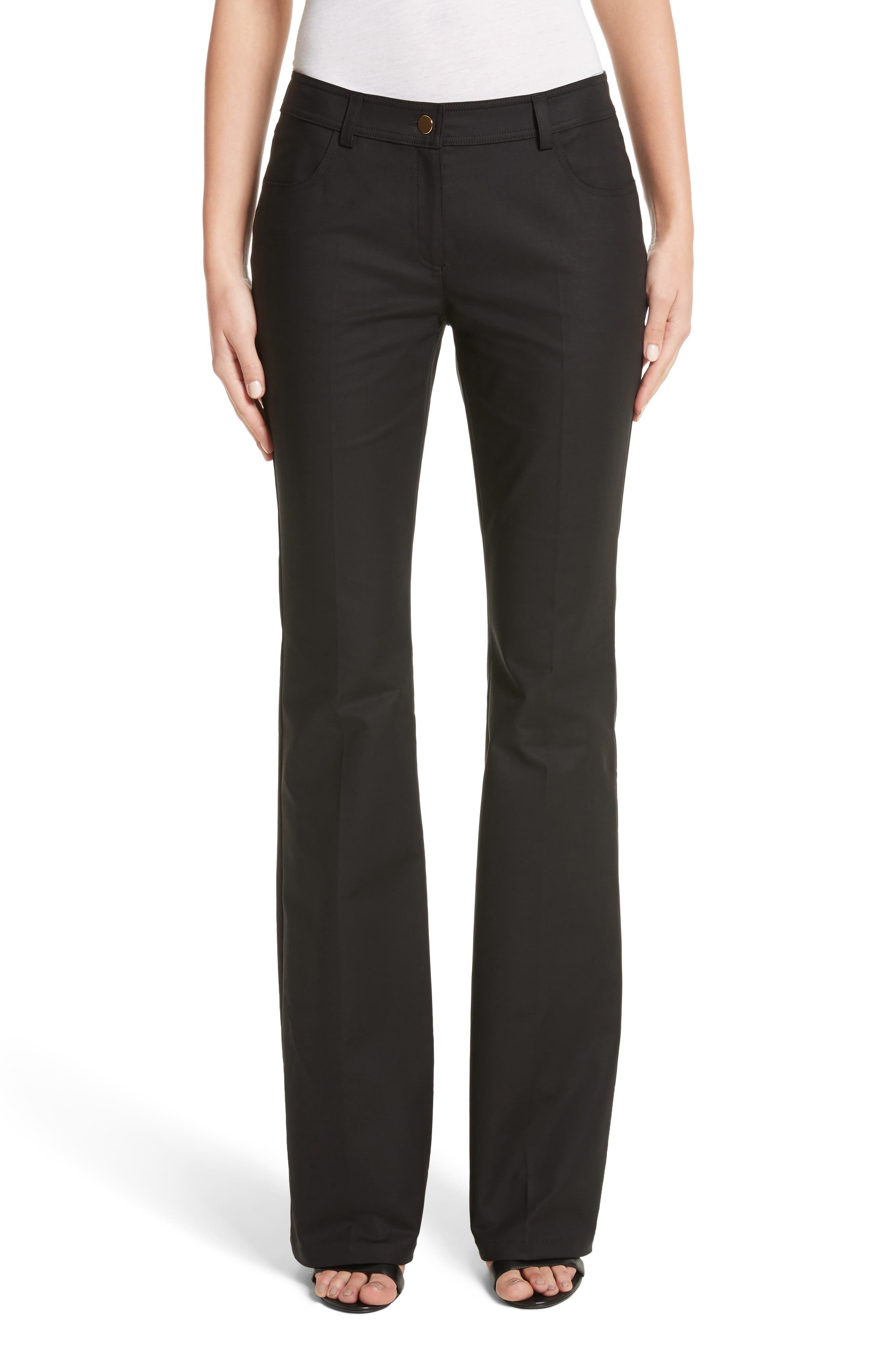 Flare Jeans,                         Main,                         color, Black