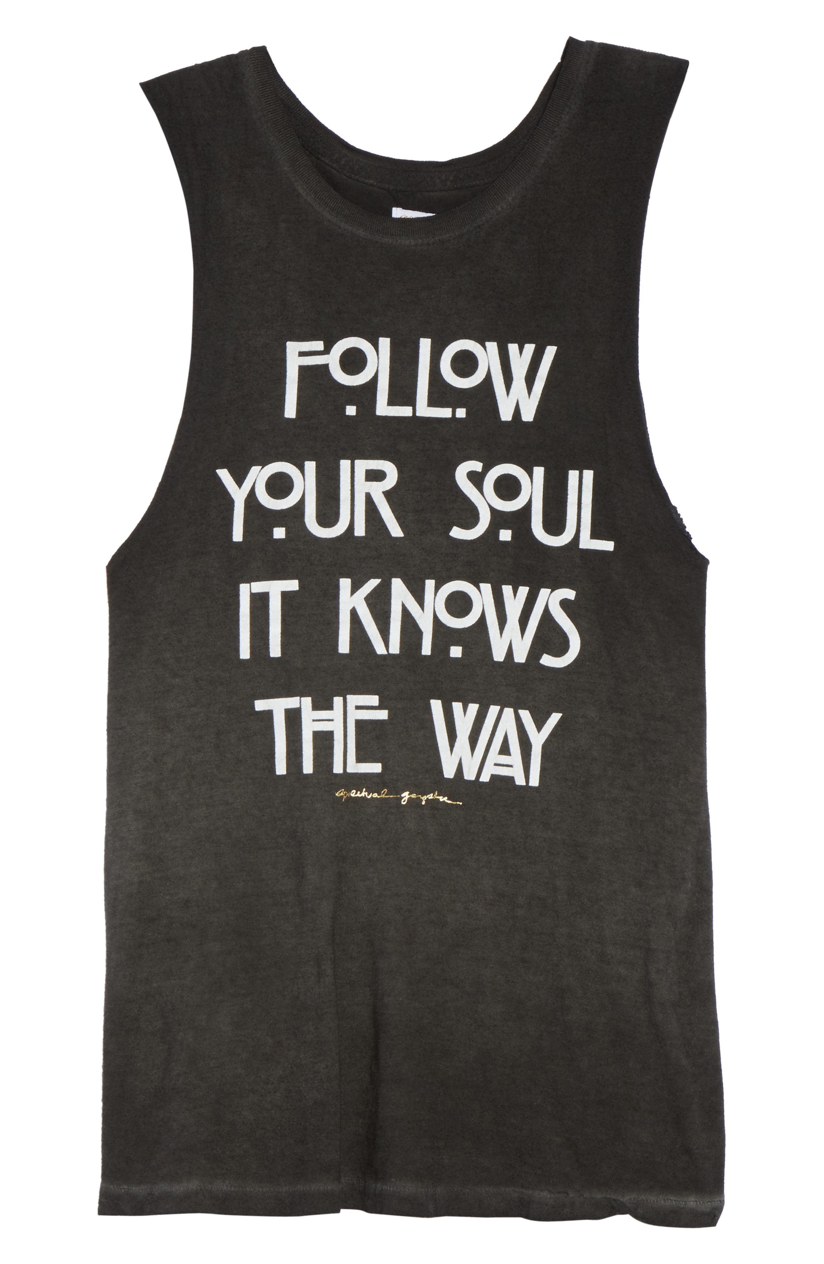 Follow Your Soul Muscle Tee,                             Alternate thumbnail 7, color,                             Vintage Black