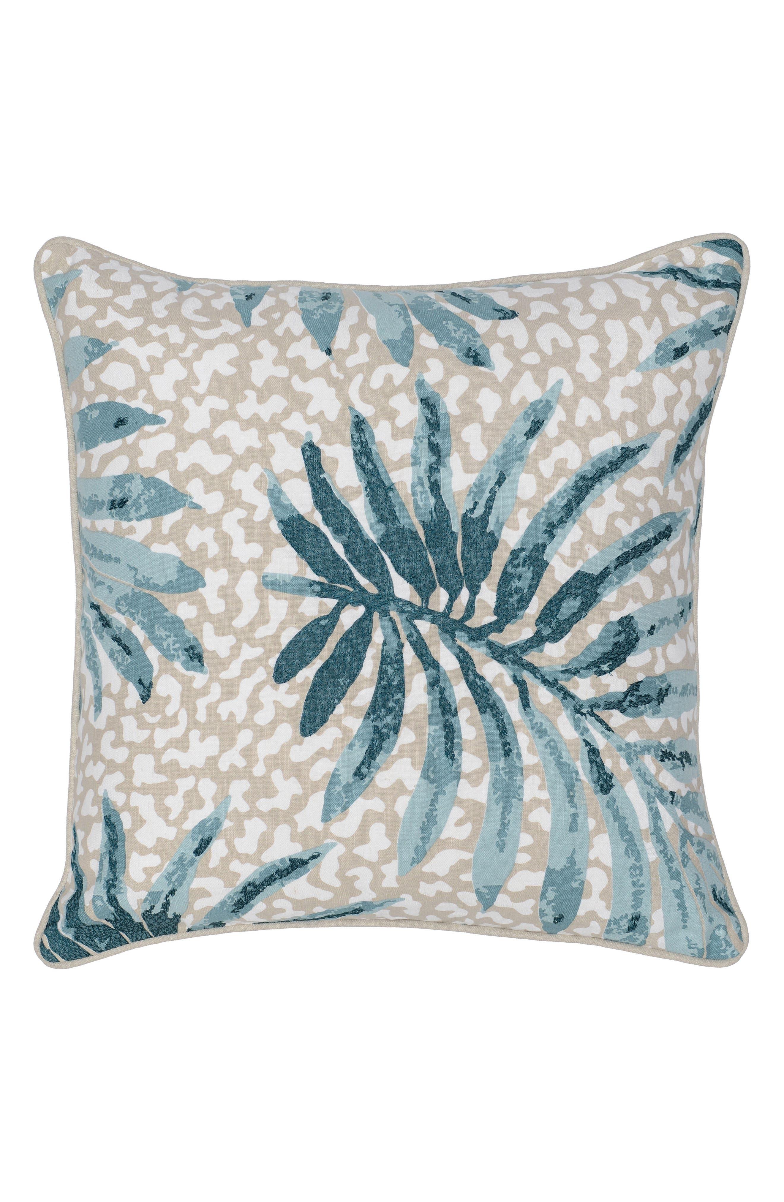 Cobi Pillow,                         Main,                         color, Beige/ Teal